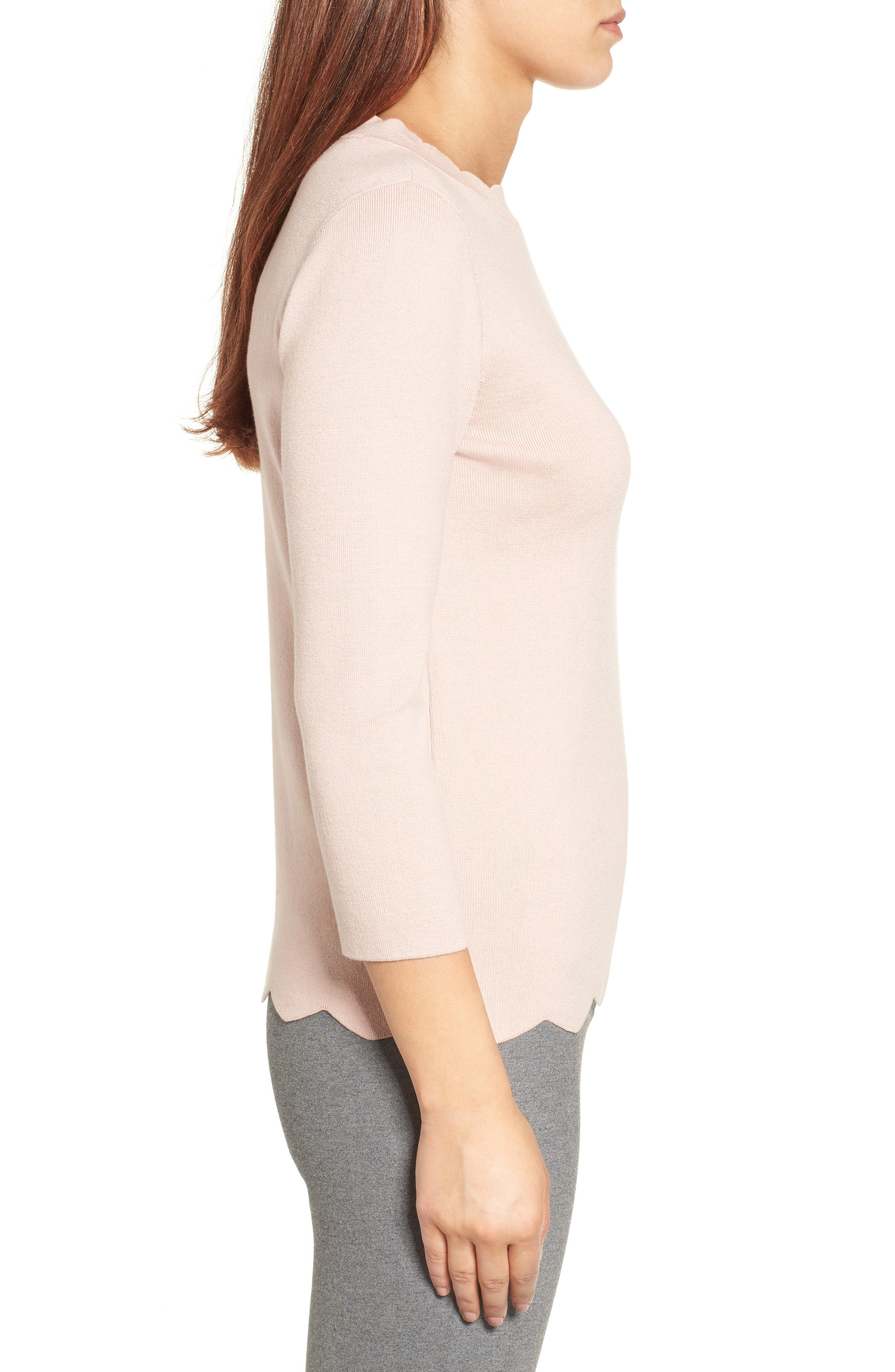 Halogen Scallop Edge Sweater,                             Alternate thumbnail 31, color,