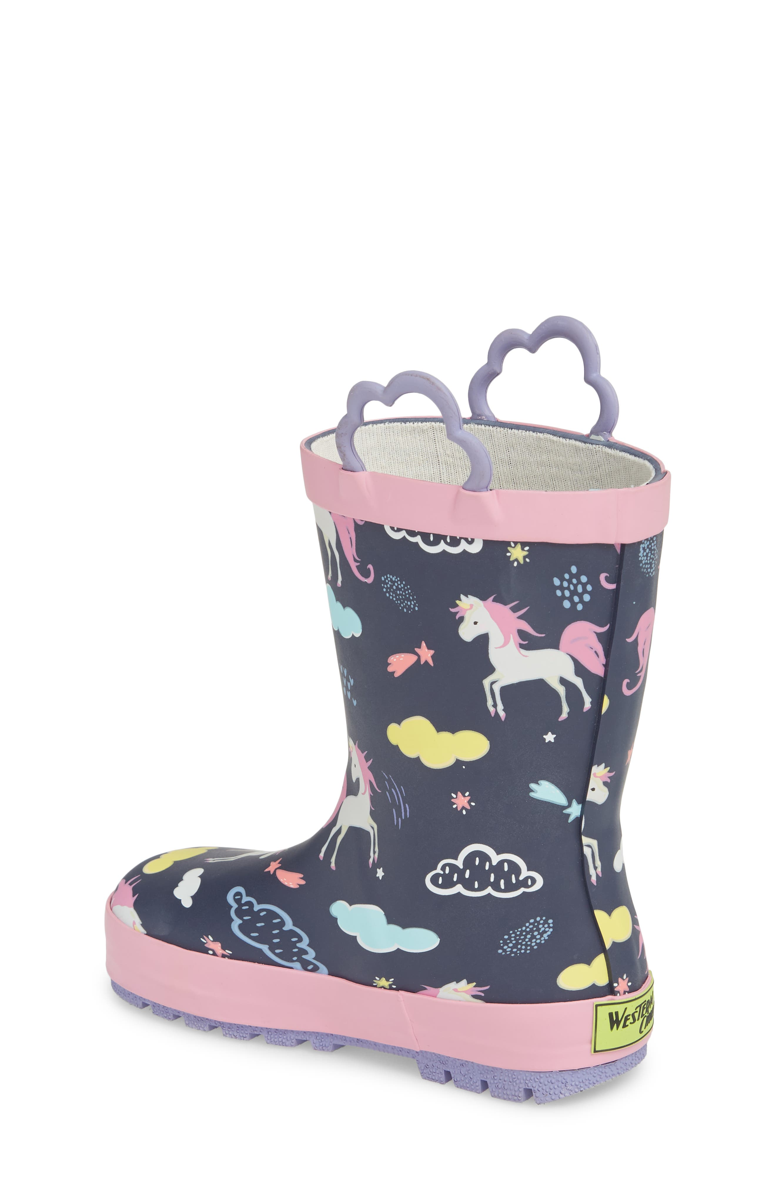 Unicorn Play Waterproof Rain Boot,                             Alternate thumbnail 2, color,                             421
