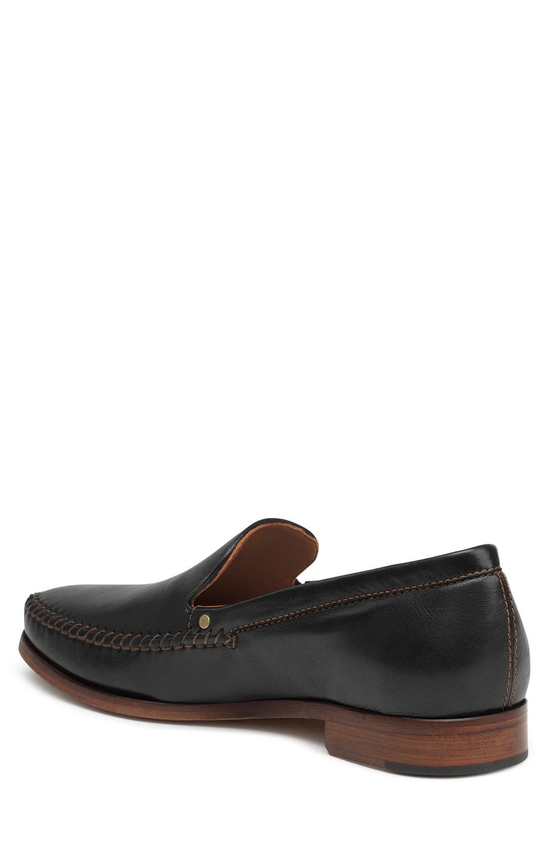 TRASK,                             'Seth' Loafer,                             Alternate thumbnail 2, color,                             BLACK SHEEPSKIN