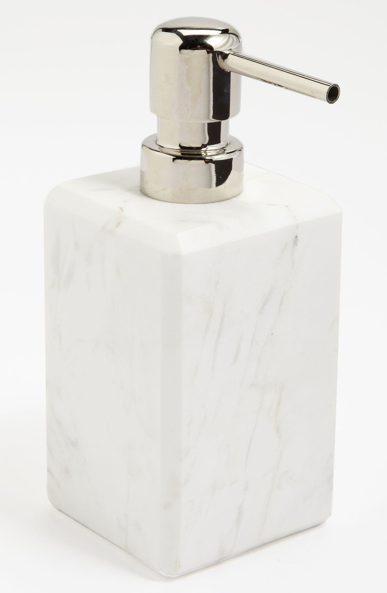 Studio 'Luna' White Marble Soap Dispenser,                             Main thumbnail 1, color,                             WHITE