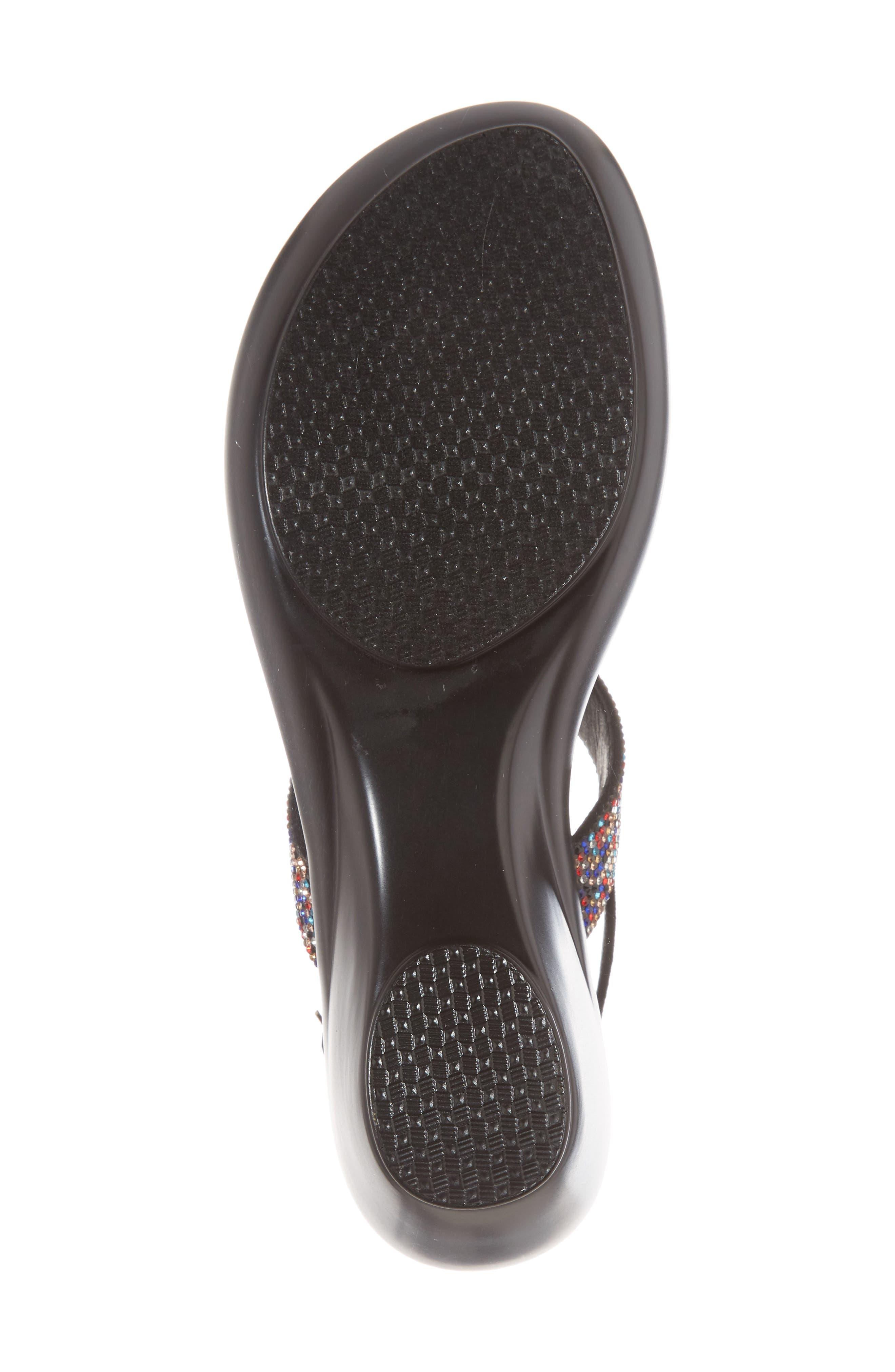 Dakkota Wedge Sandal,                             Alternate thumbnail 6, color,                             001