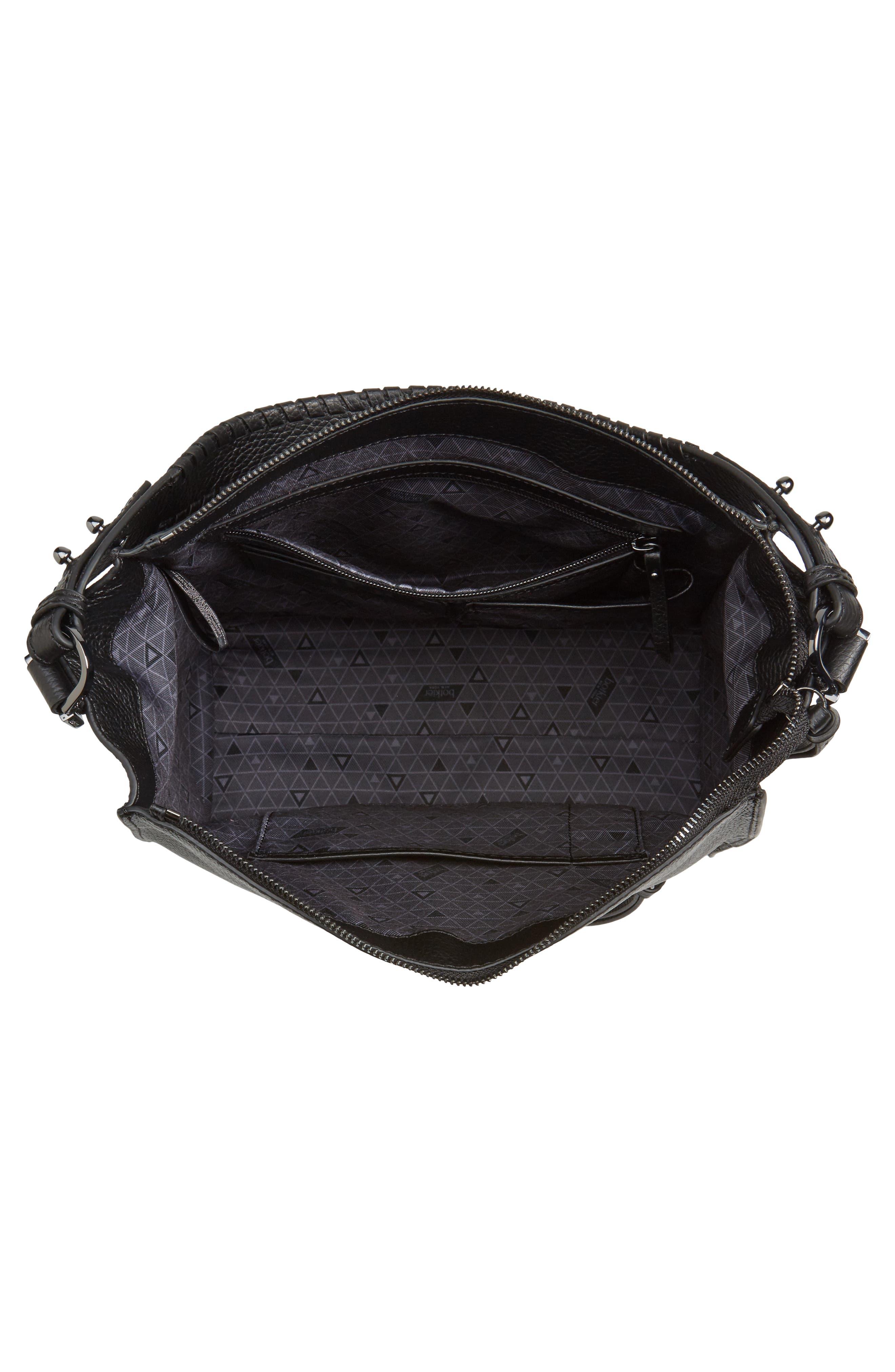Large Paloma Leather Hobo,                             Alternate thumbnail 4, color,                             001
