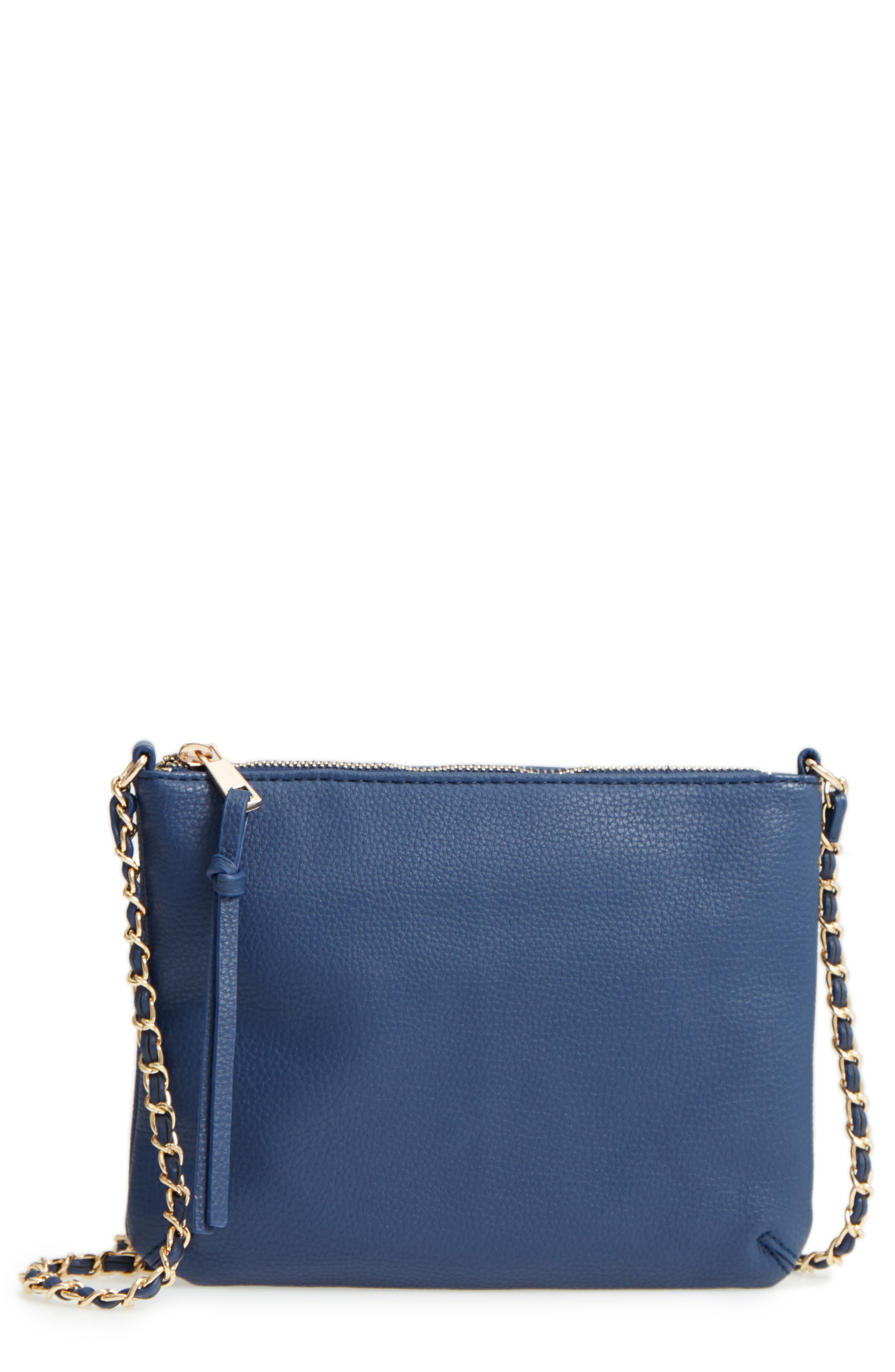Faux Leather Crossbody Bag,                         Main,                         color, 410