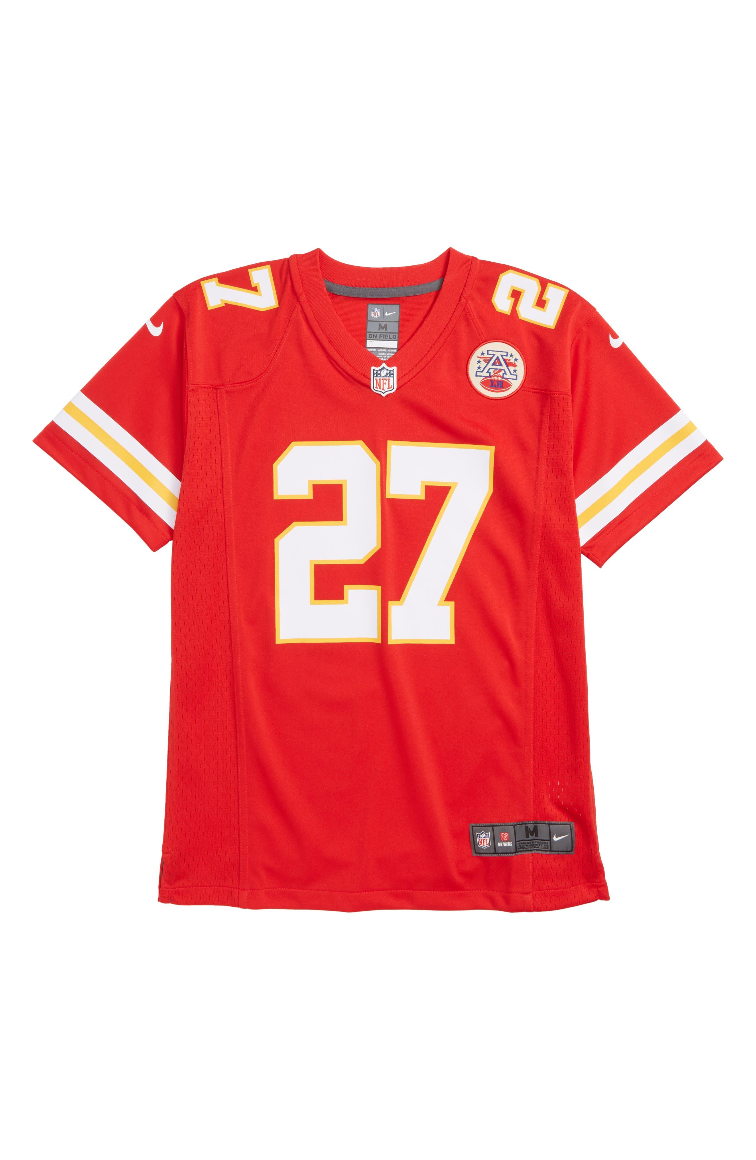 NFL Logo Kansas City Chiefs Kareem Hunt Jersey,                         Main,                         color, RED