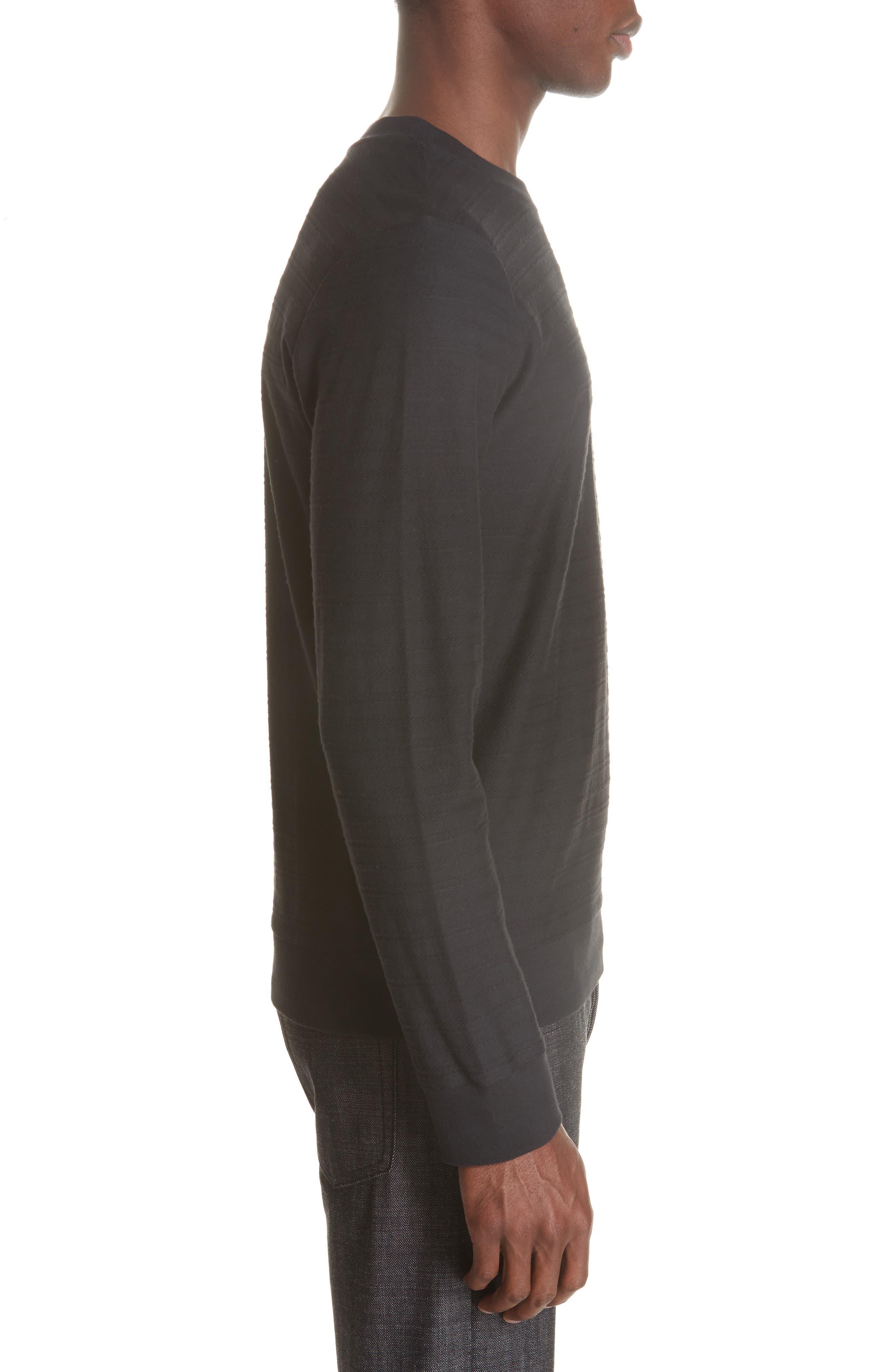 Jacquard Stripe Long Sleeve T-Shirt,                             Alternate thumbnail 3, color,                             062