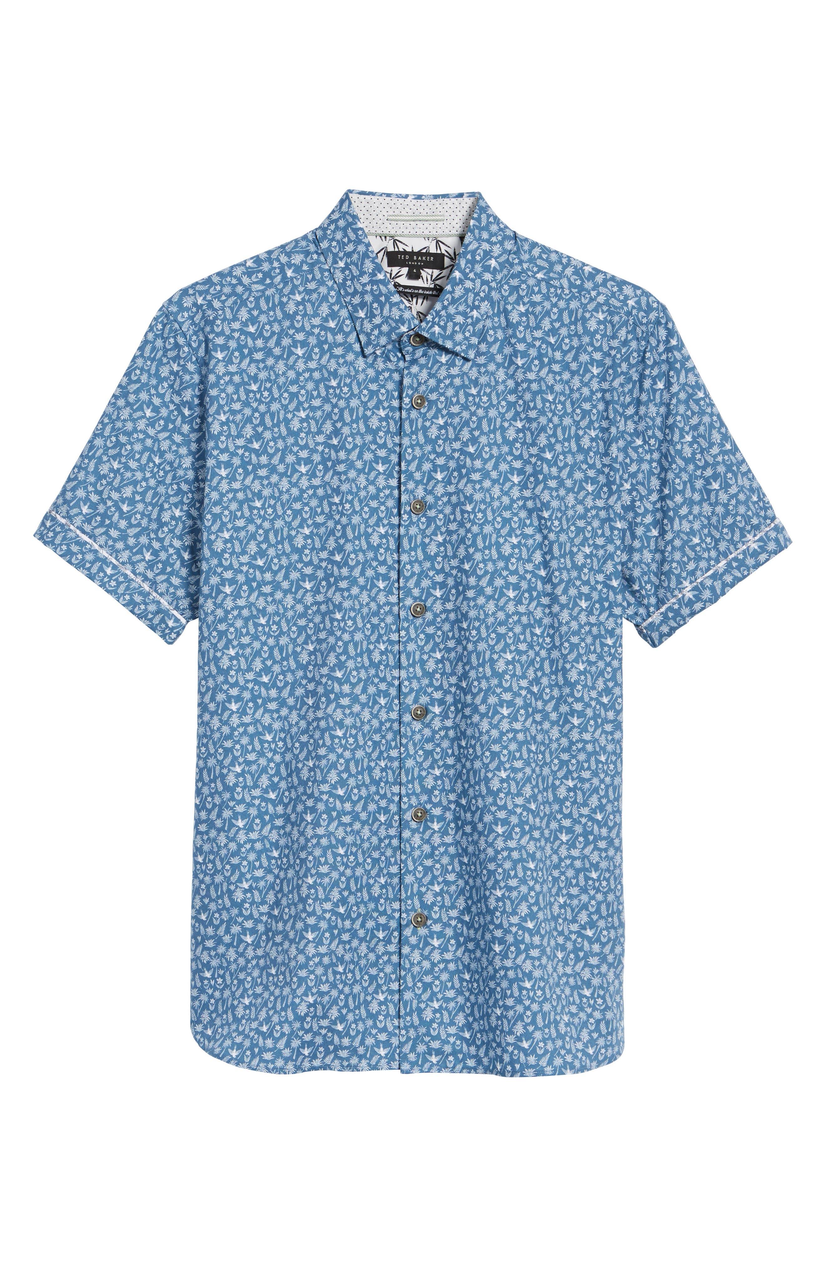 Pazta Tropic Print Shirt,                             Alternate thumbnail 6, color,                             400