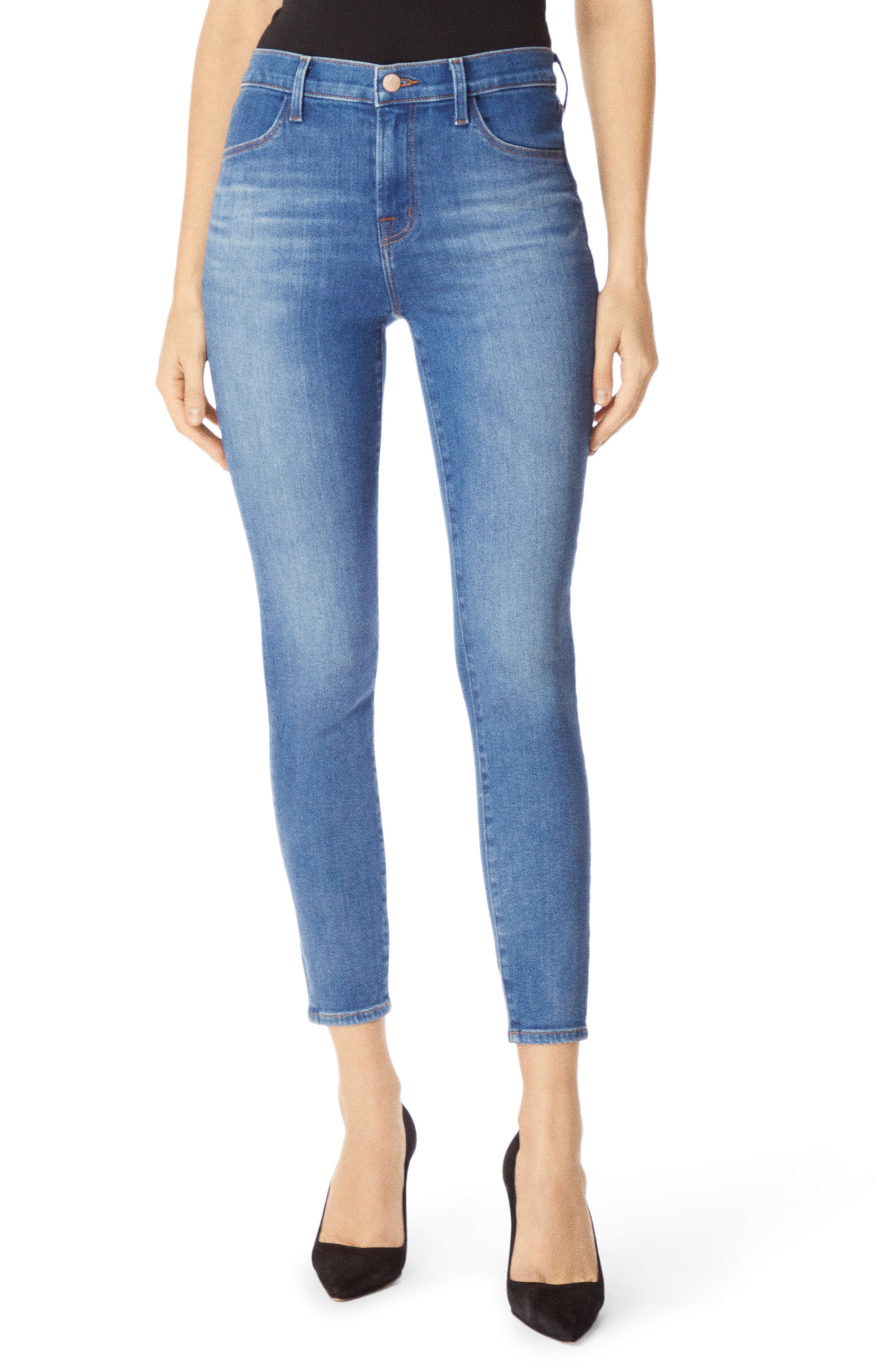 Alana High Waist Crop Skinny Jeans, Main, color, RADIATE