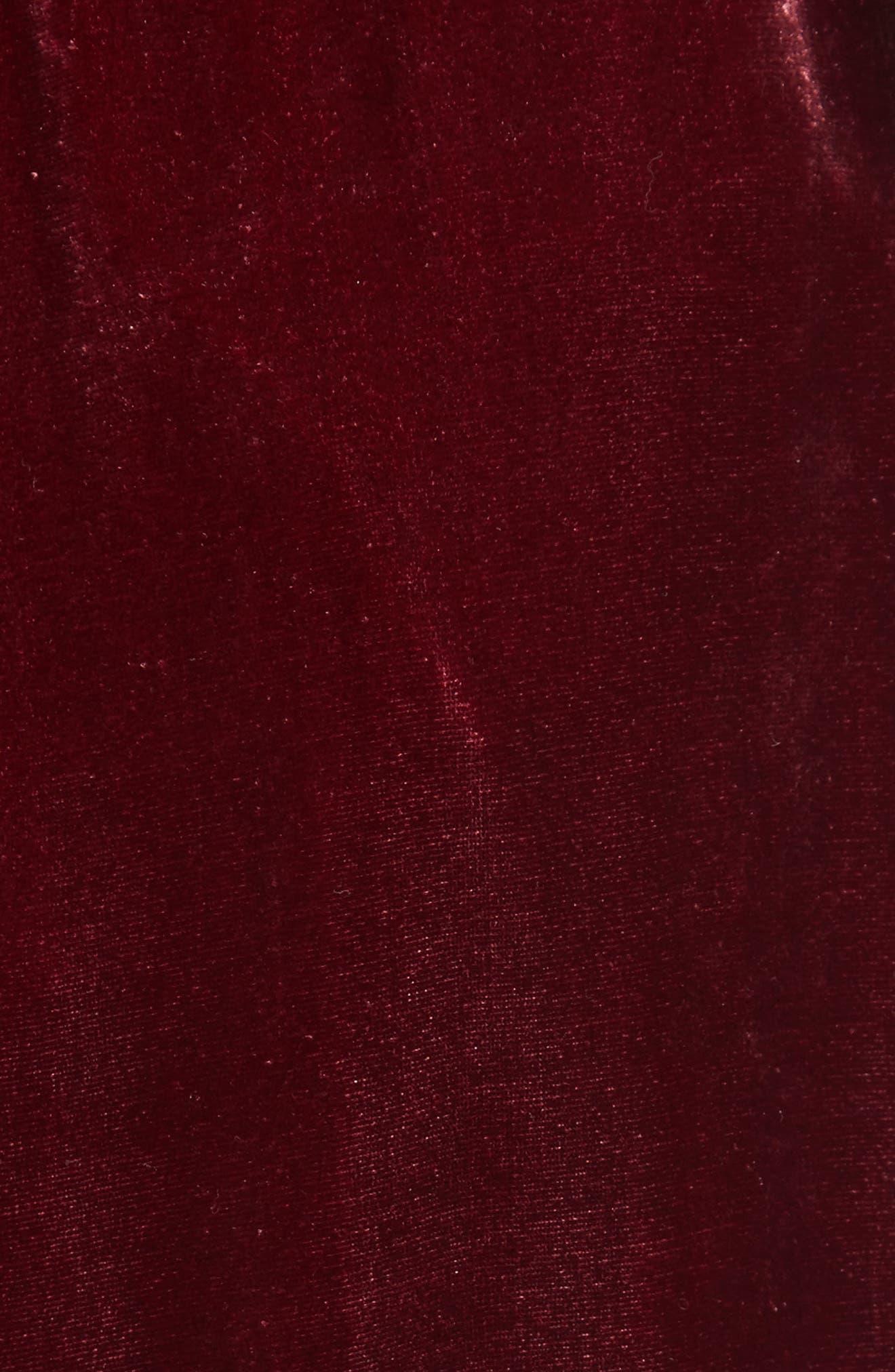Velvet Midi Skirt,                             Alternate thumbnail 5, color,                             601