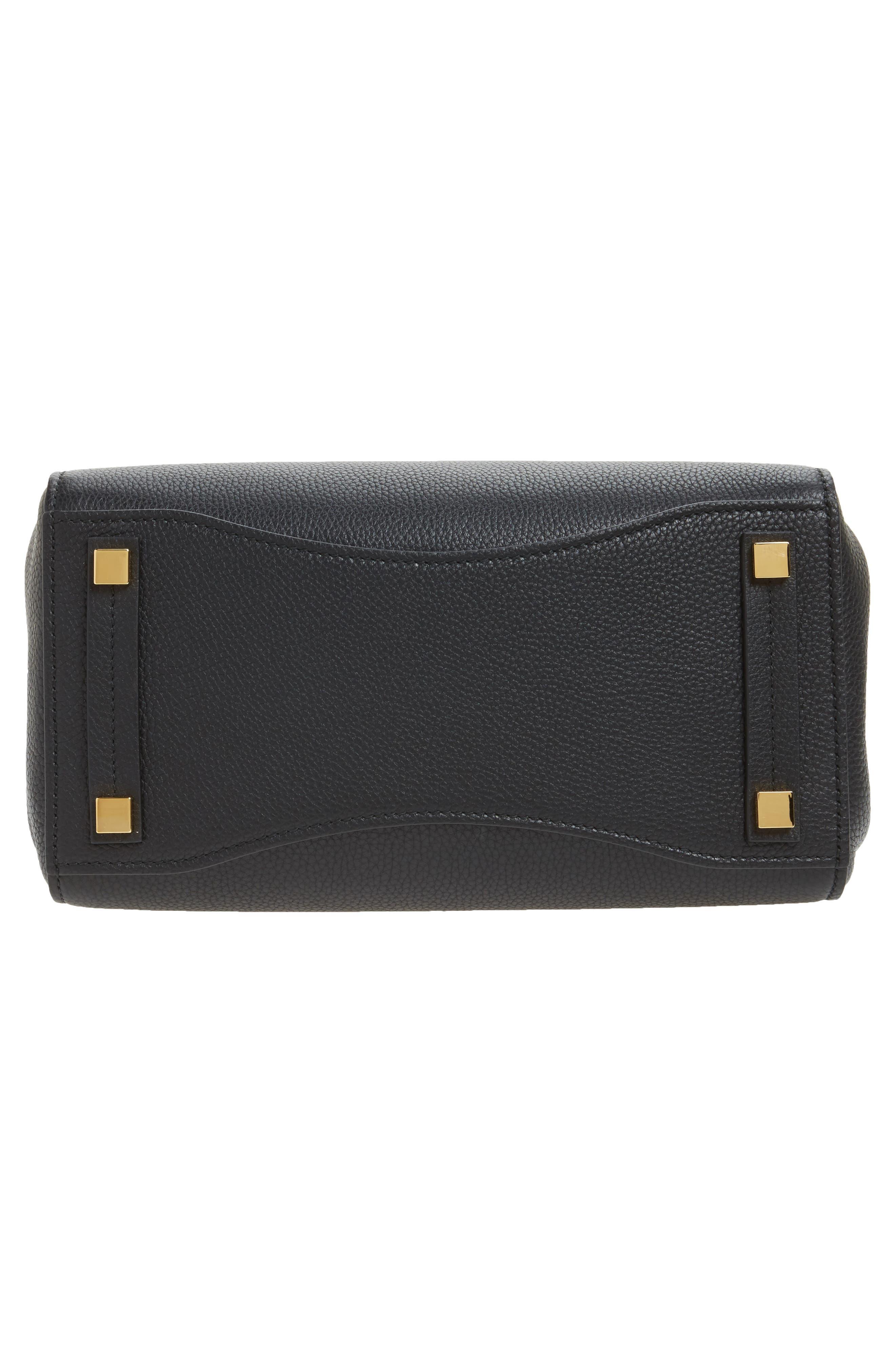 Large Bancroft Leather Top Handle Satchel,                             Alternate thumbnail 6, color,                             001