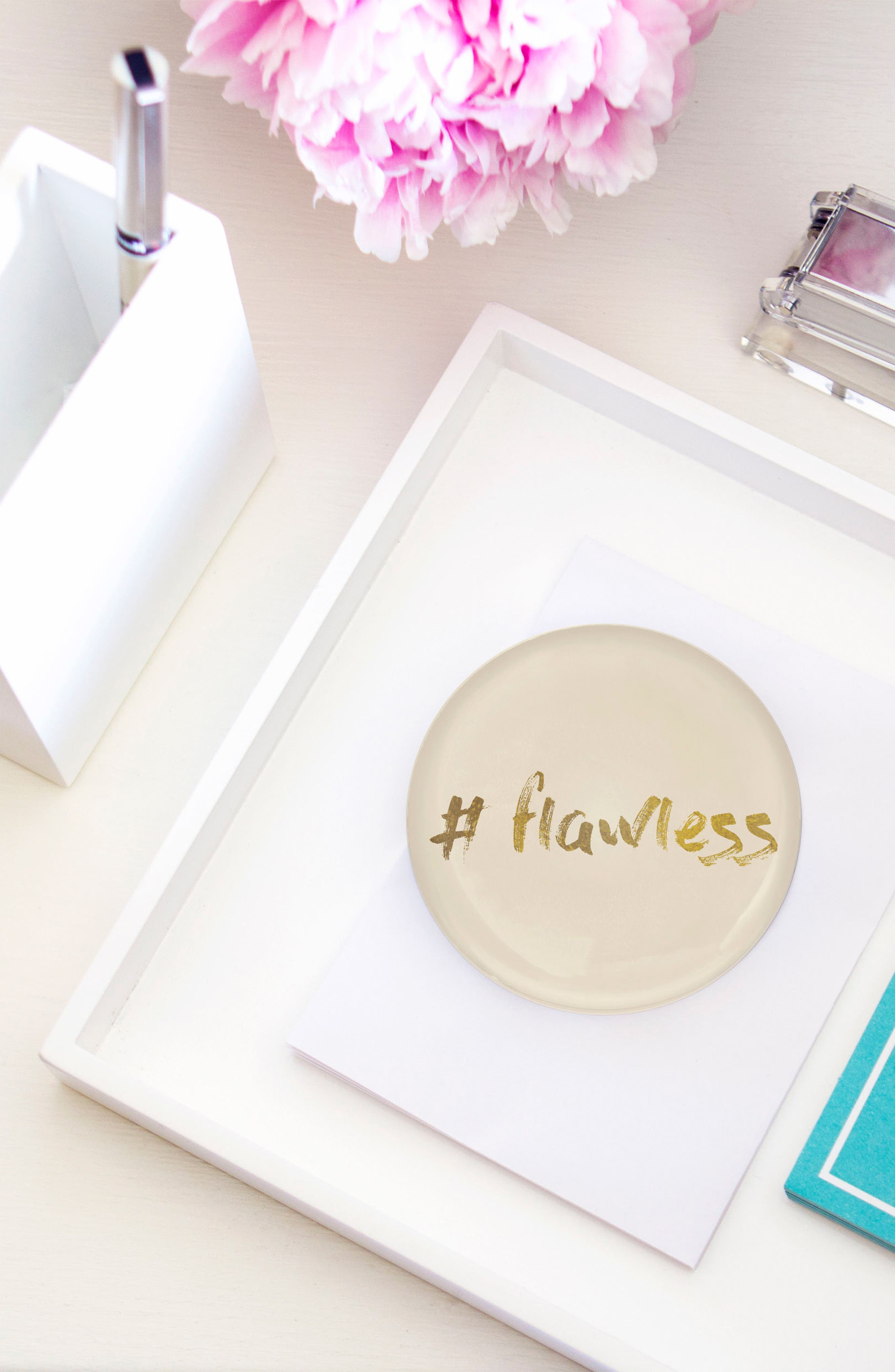 Flawless Domed Glass Paperweight,                             Alternate thumbnail 3, color,