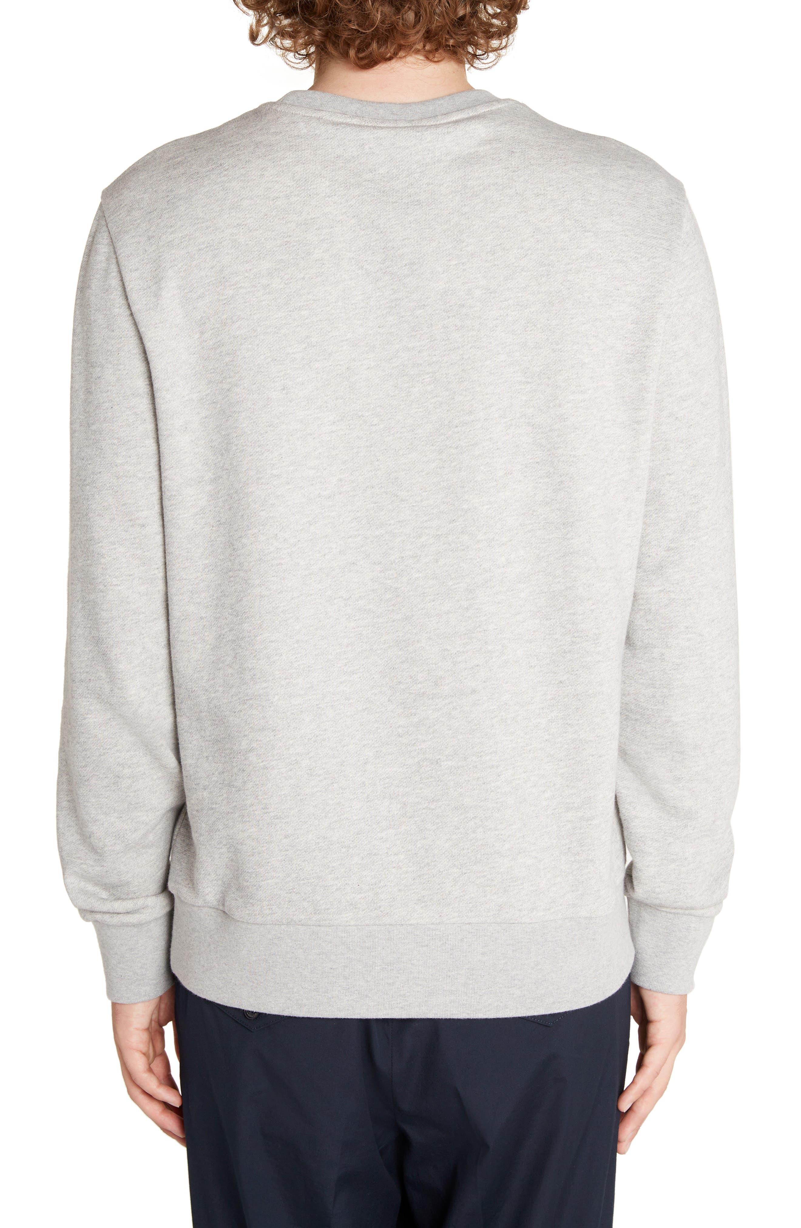 MONCLER,                             Logo Crewneck Sweatshirt,                             Alternate thumbnail 2, color,                             DARK GREY