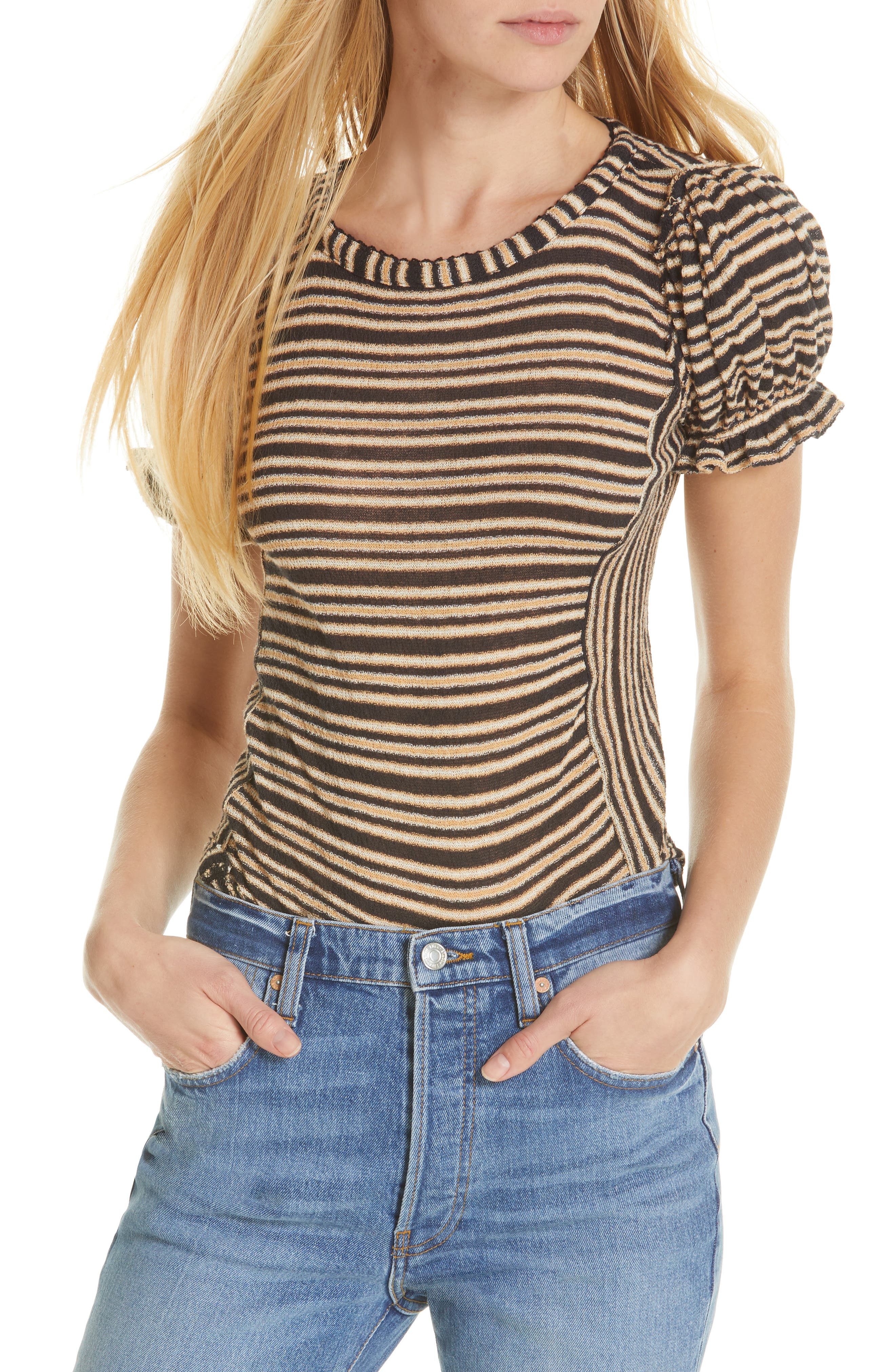 Free People Take One For The Team Tee, Black