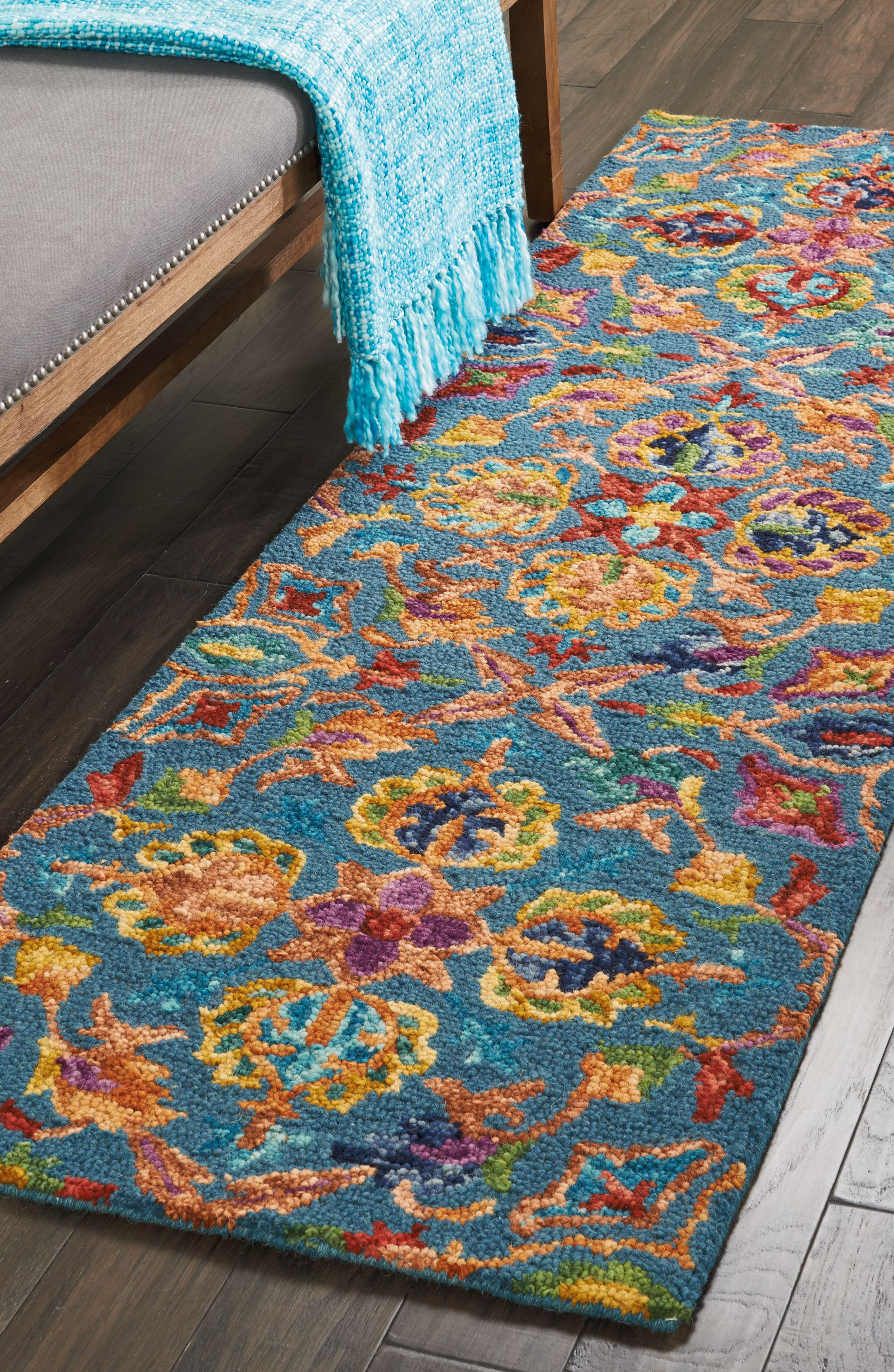 Vivid Wool Rug,                             Alternate thumbnail 2, color,                             400