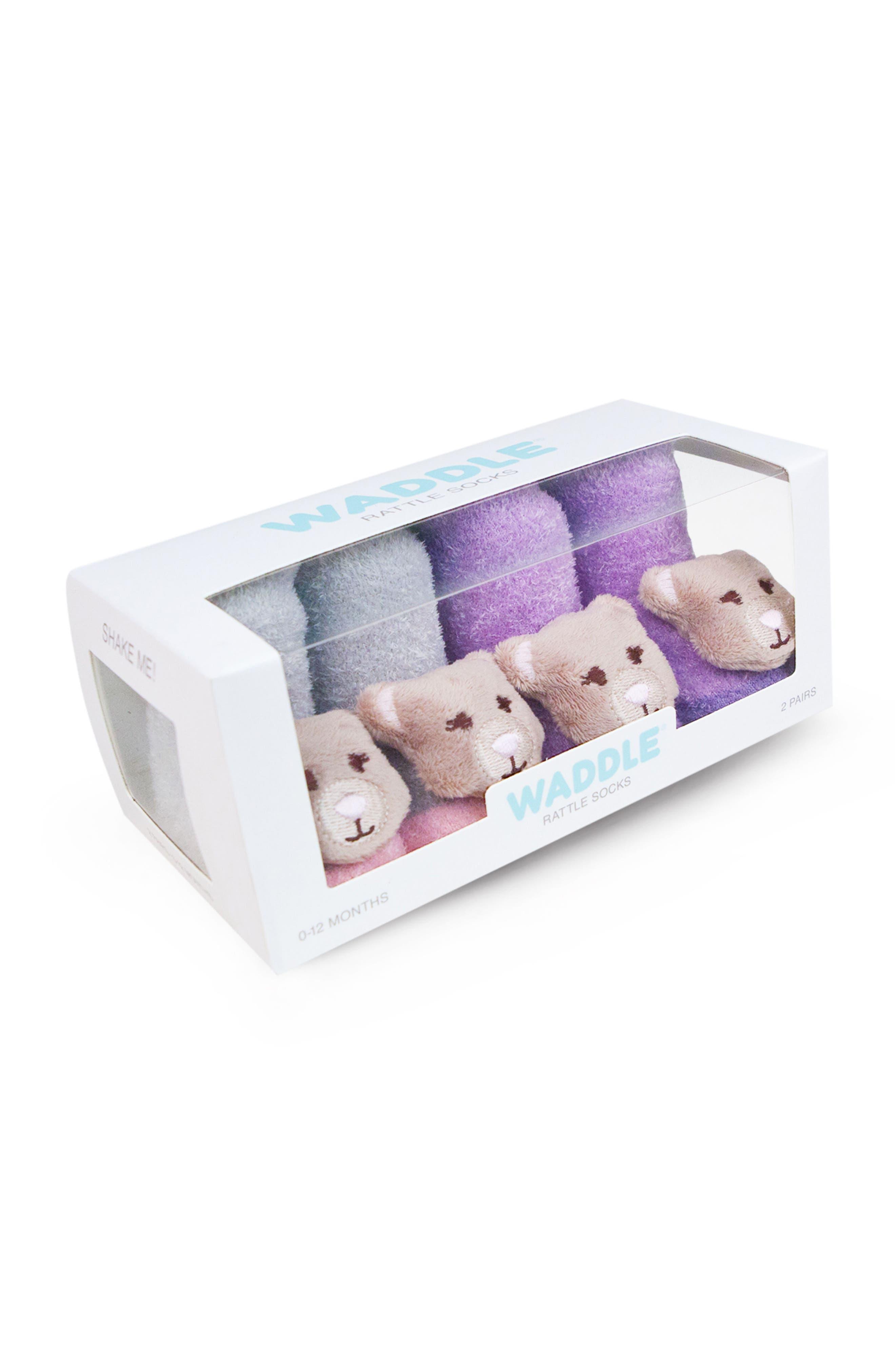 & Friends 2-Pack Animal Rattle Socks,                             Alternate thumbnail 2, color,