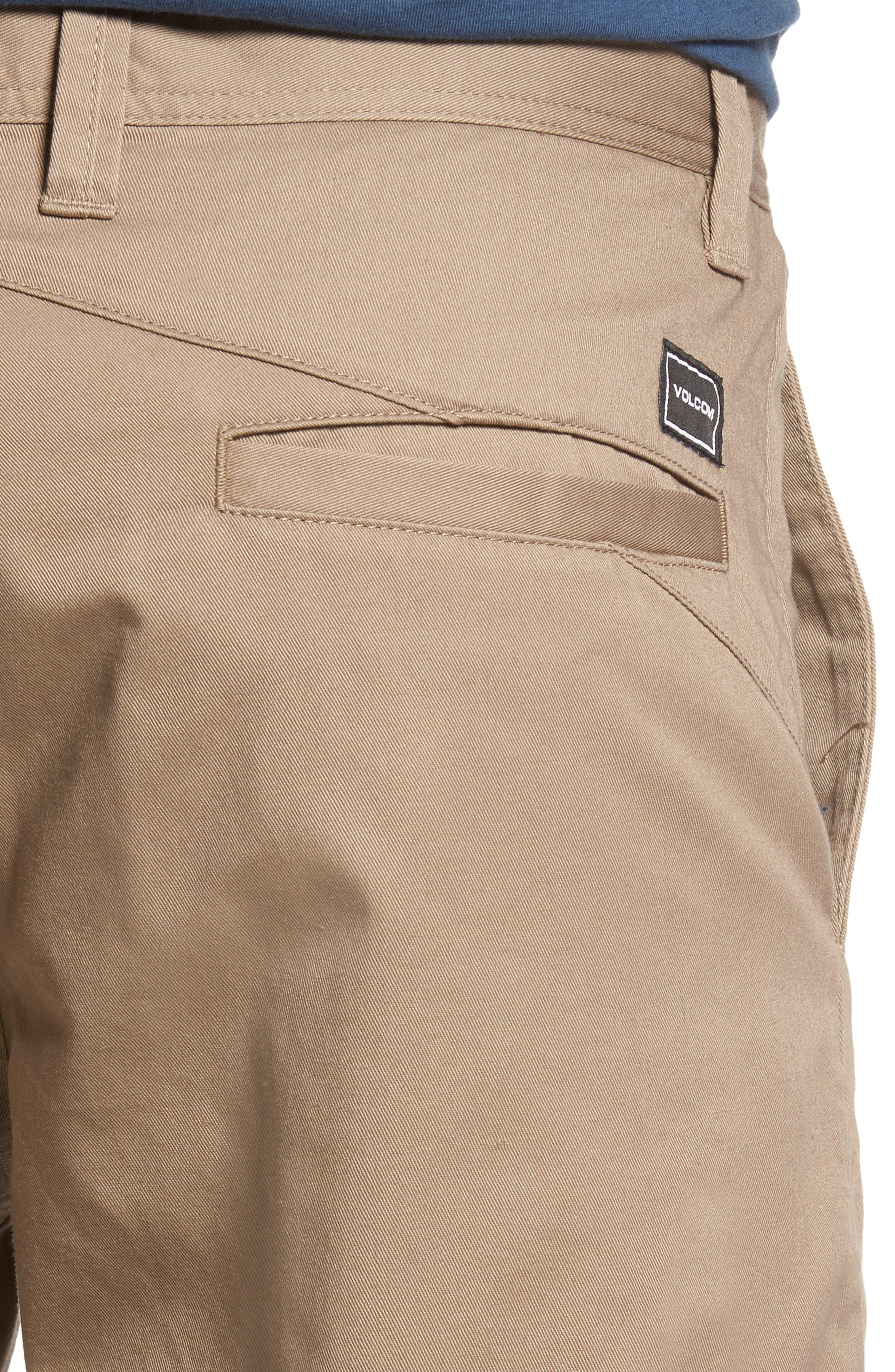 Modern Chino Shorts,                             Alternate thumbnail 4, color,                             KHAKI