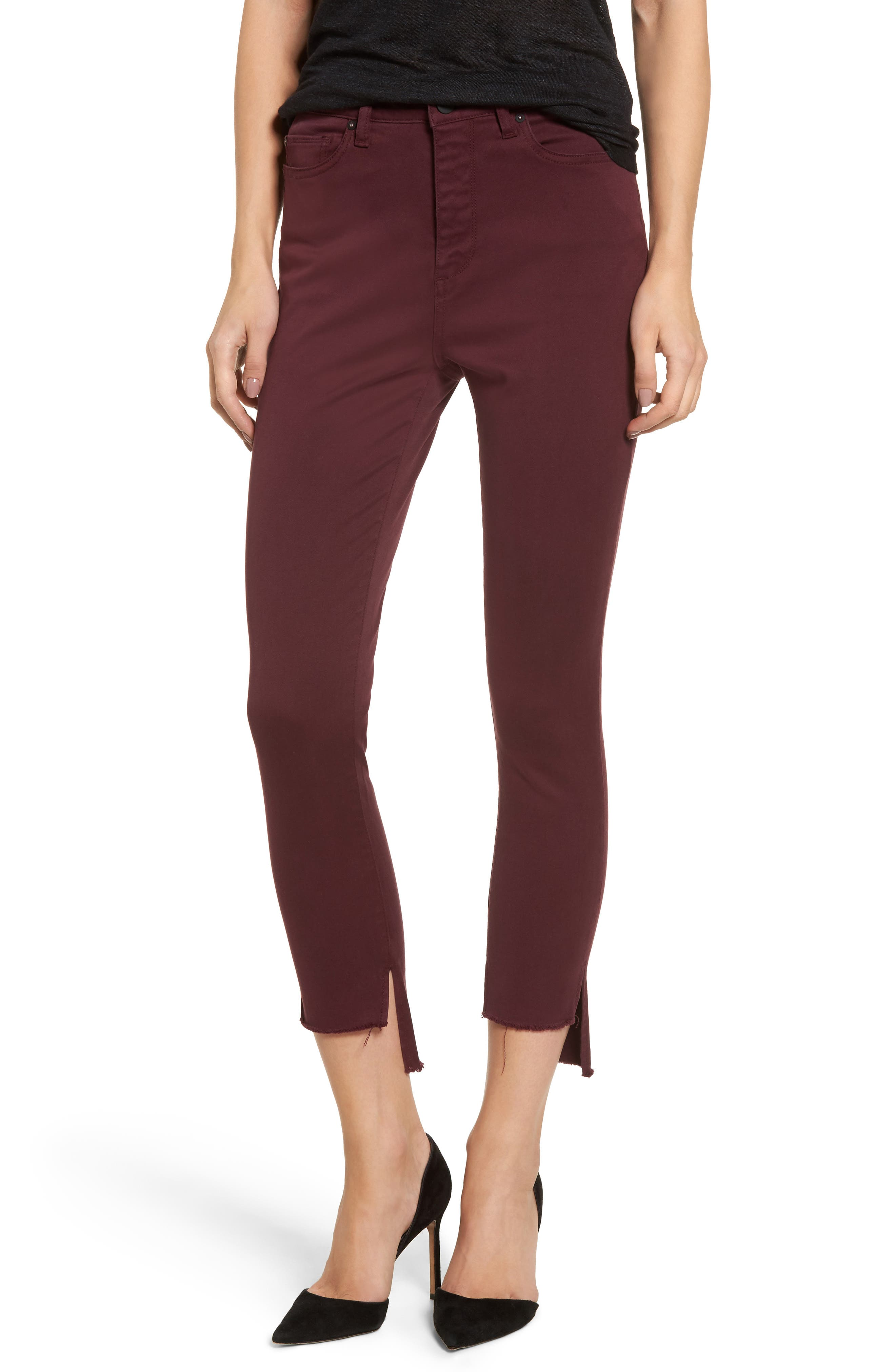 Chrissy Trimstone High Waist Step Hem Skinny Jeans,                             Main thumbnail 1, color,
