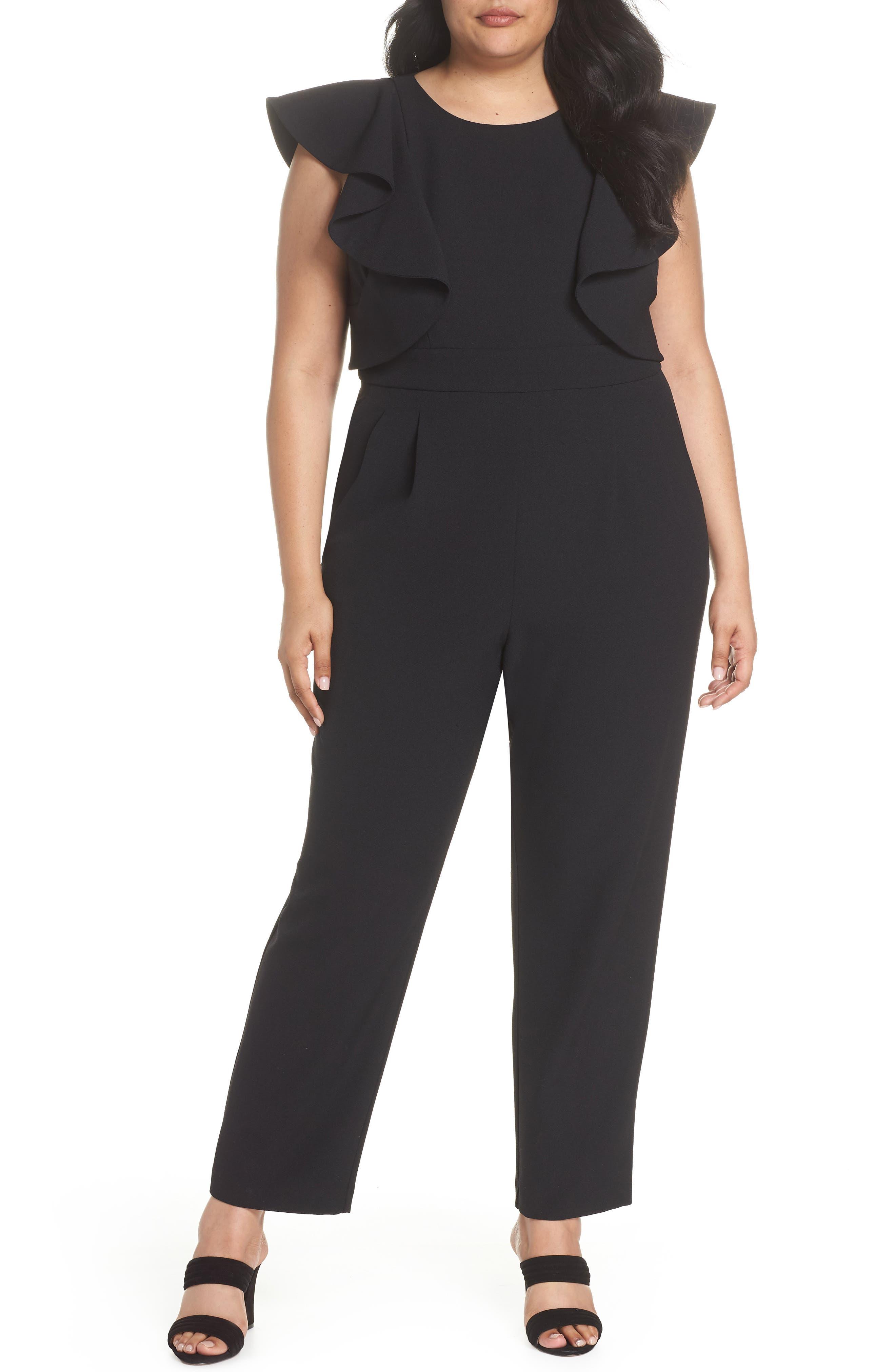 Flutter Sleeve Jumpsuit,                         Main,                         color, 001
