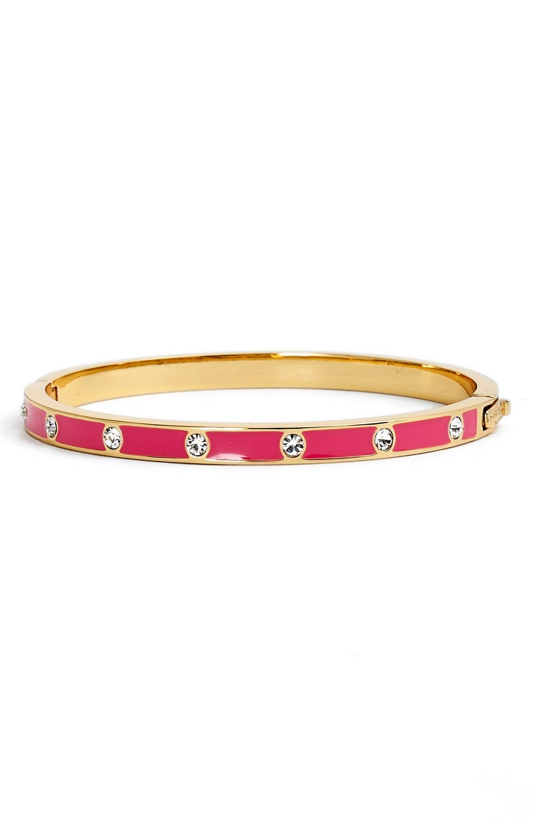crystal & enamel hinge bangle,                             Main thumbnail 9, color,