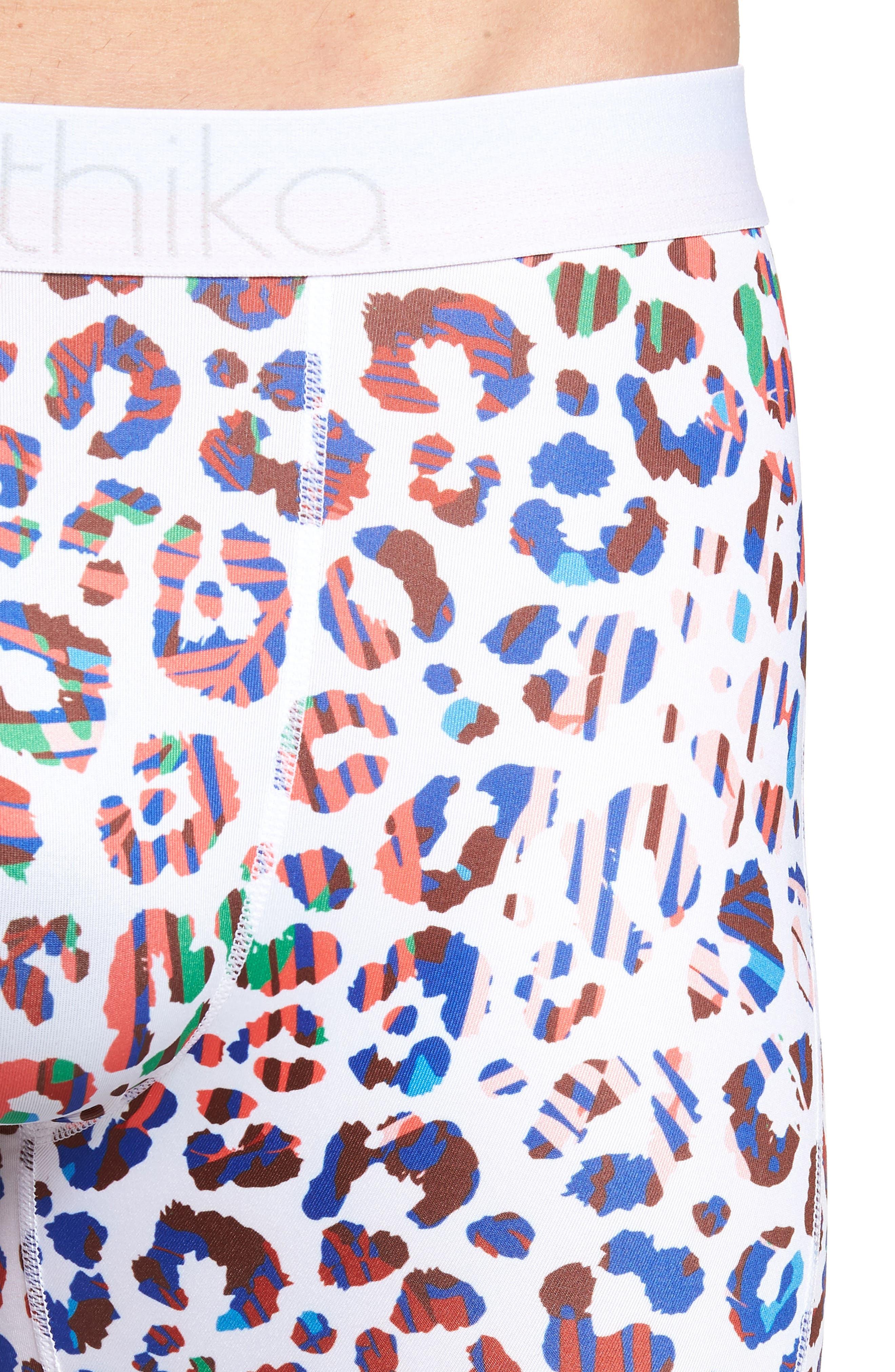 Beach Cheetah Stretch Boxer Briefs,                             Alternate thumbnail 4, color,                             WHITE MULTI