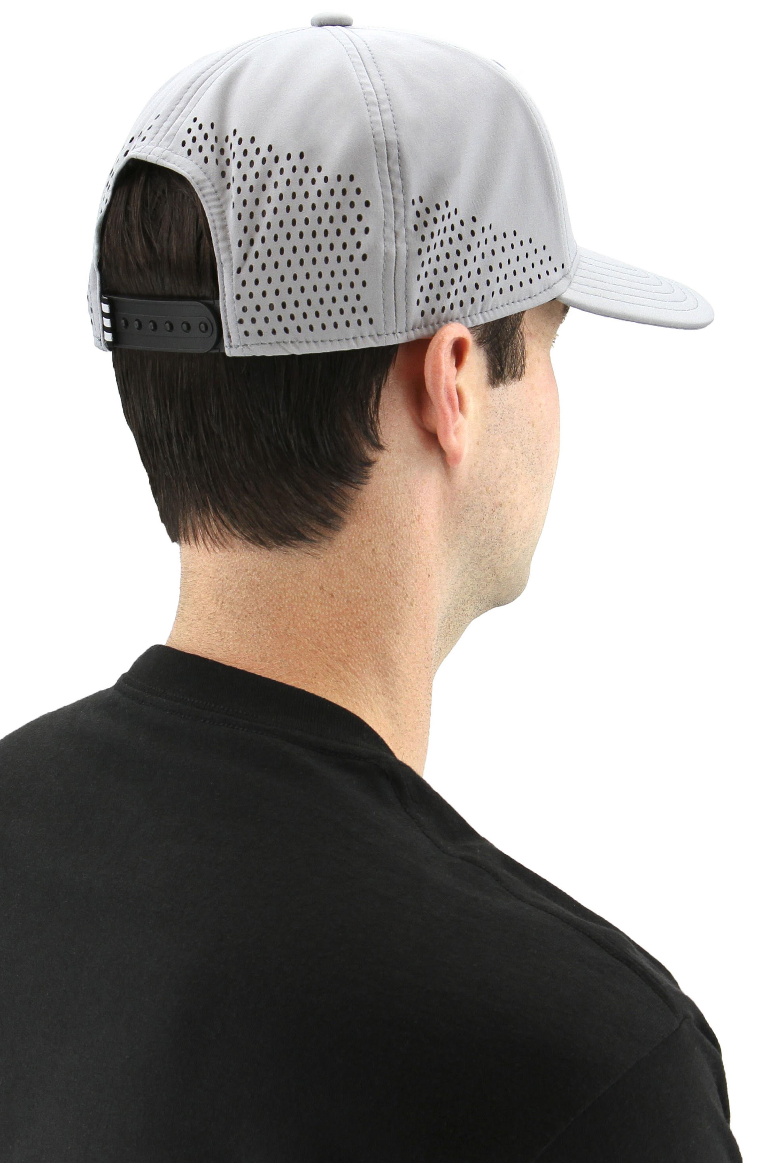 Tech Ventilated Baseball Cap,                             Alternate thumbnail 4, color,                             MED GREY