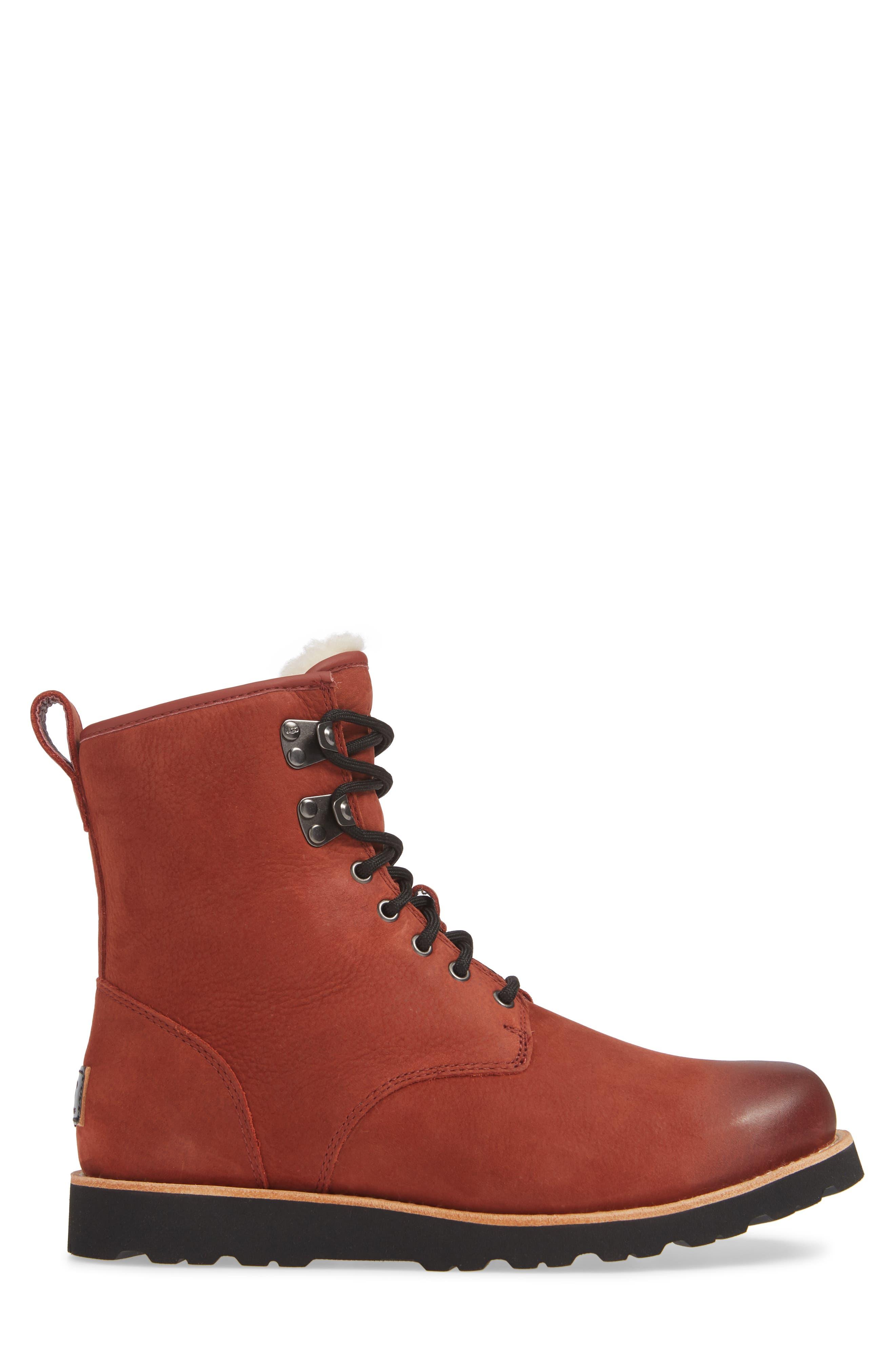Hannen Waterproof Boot,                             Alternate thumbnail 3, color,                             RED OXIDE