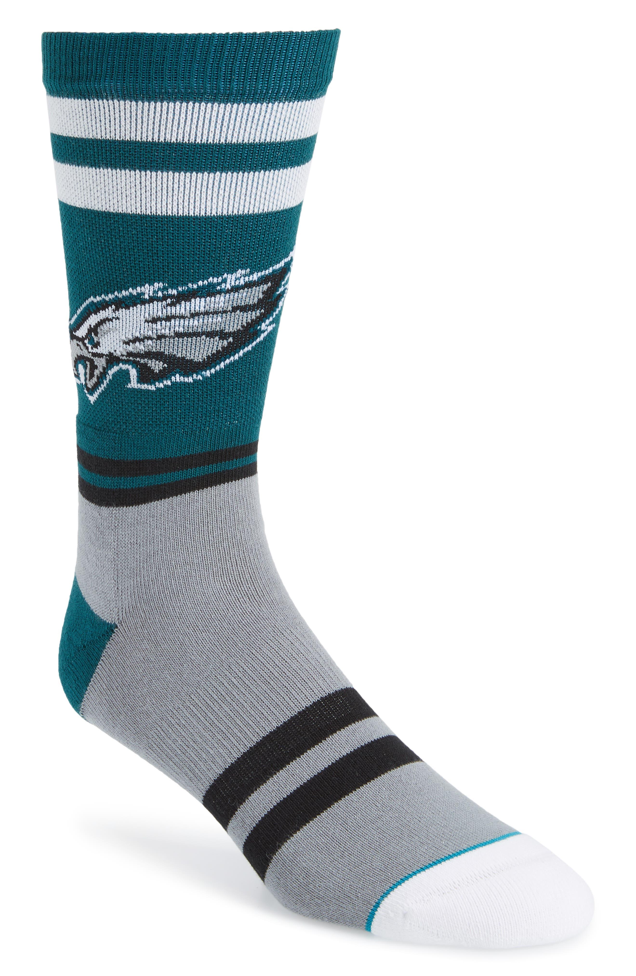 Philadelphia Eagles Socks,                             Main thumbnail 1, color,                             GREEN