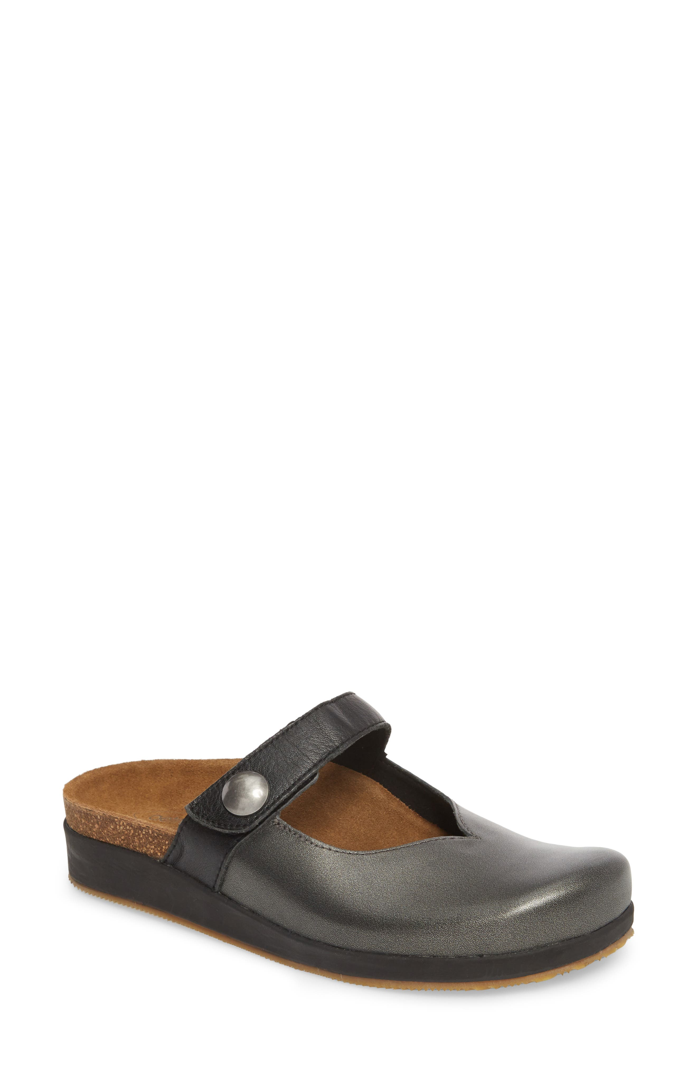 Scarlett Clog,                             Main thumbnail 1, color,                             PEWTER LEATHER