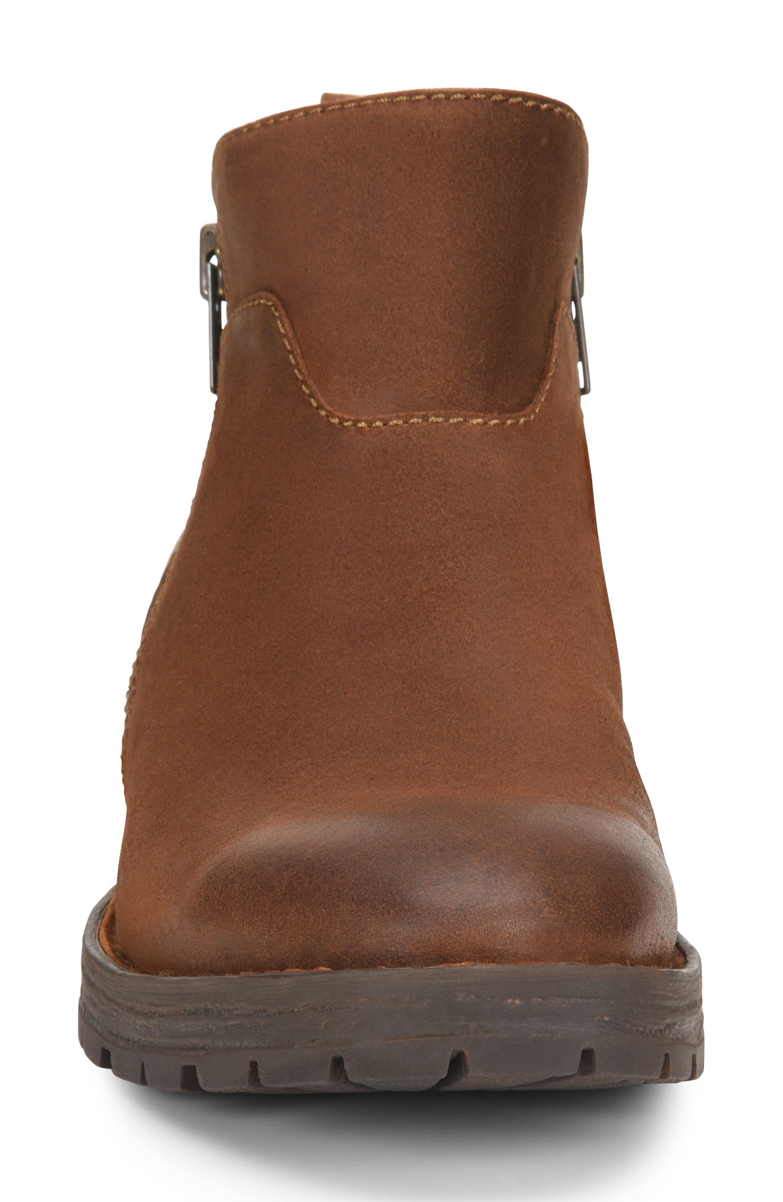 Born Ludo Zip Boot,                             Alternate thumbnail 4, color,                             RUST SUEDE