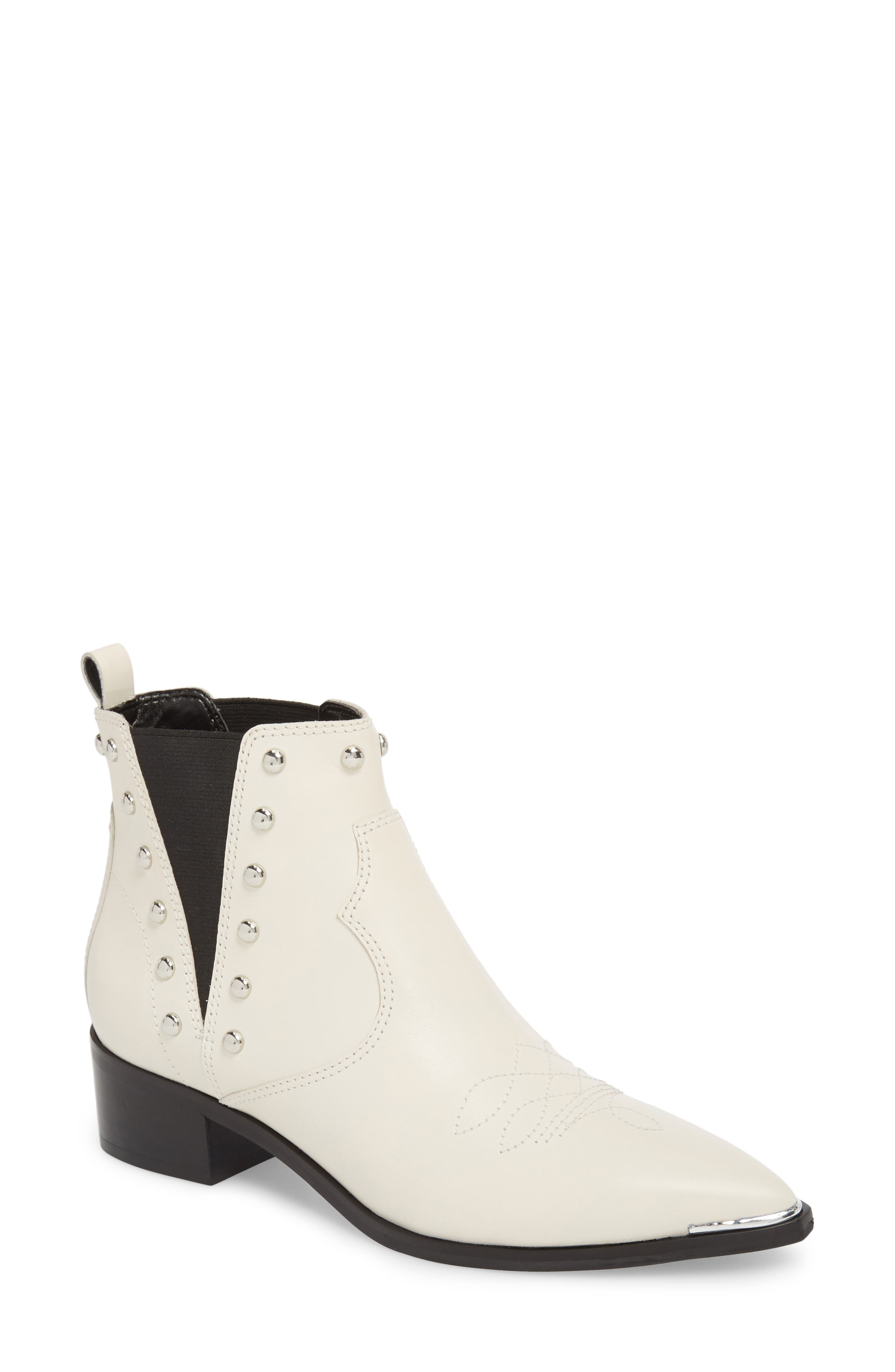 Yente Chelsea Boot,                         Main,                         color, IVORY LEATHER
