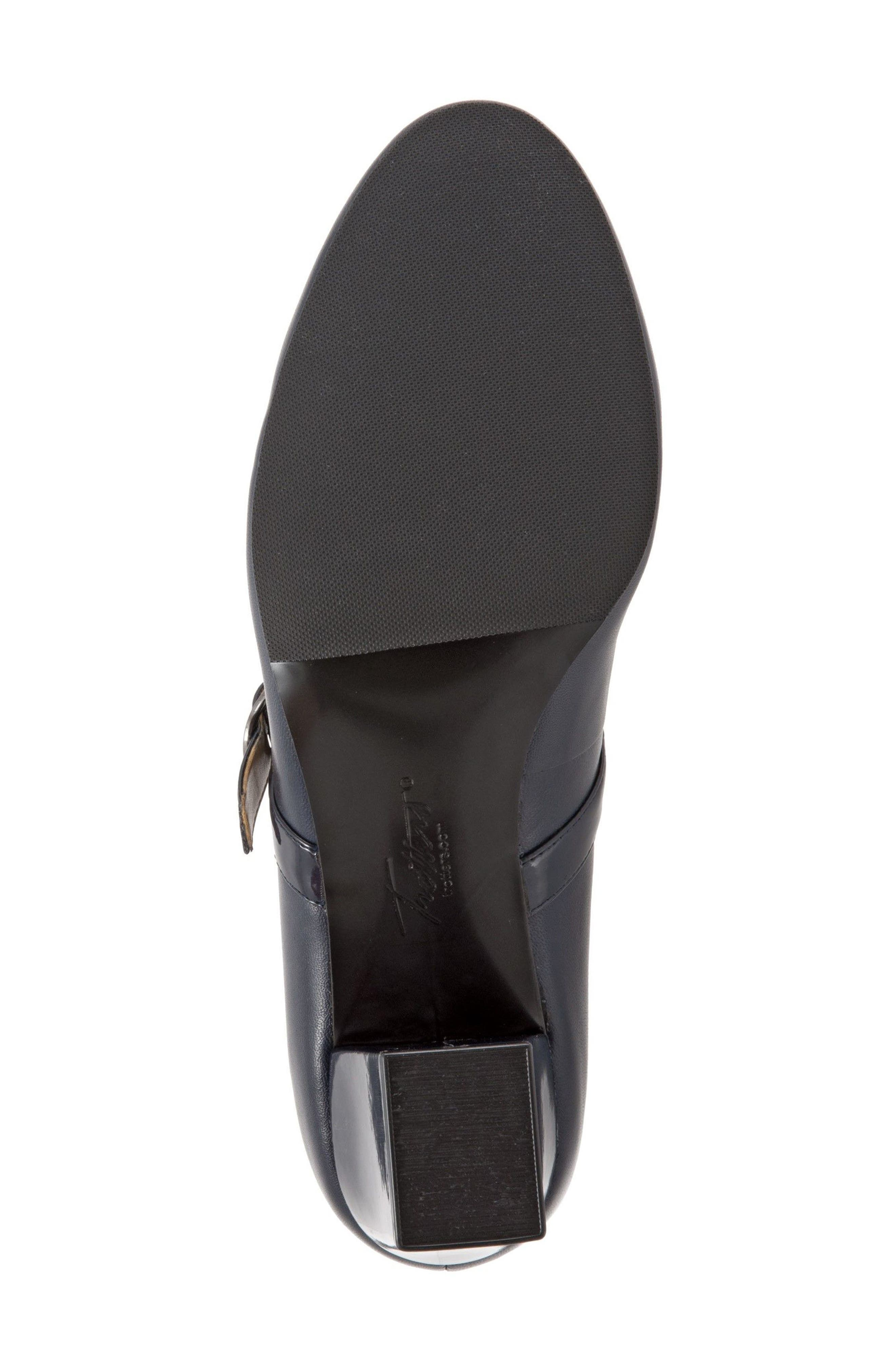 'Candice' Mary Jane Pump,                             Alternate thumbnail 6, color,                             NAVY LEATHER