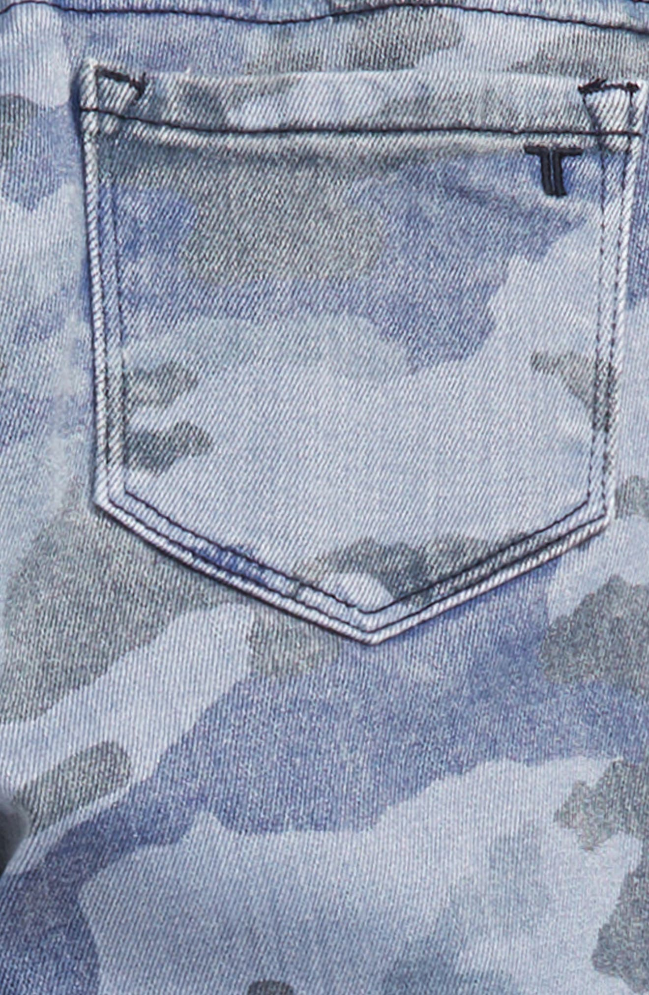 Camo Skinny Twill Pants,                             Alternate thumbnail 3, color,                             BLUE CAMO