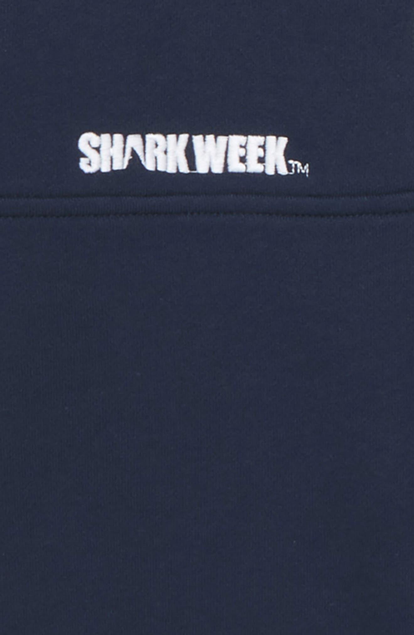 x Shark Week<sup>™</sup> Classic Shep Quarter Zip Pullover,                             Alternate thumbnail 2, color,                             VINEYARD NAVY