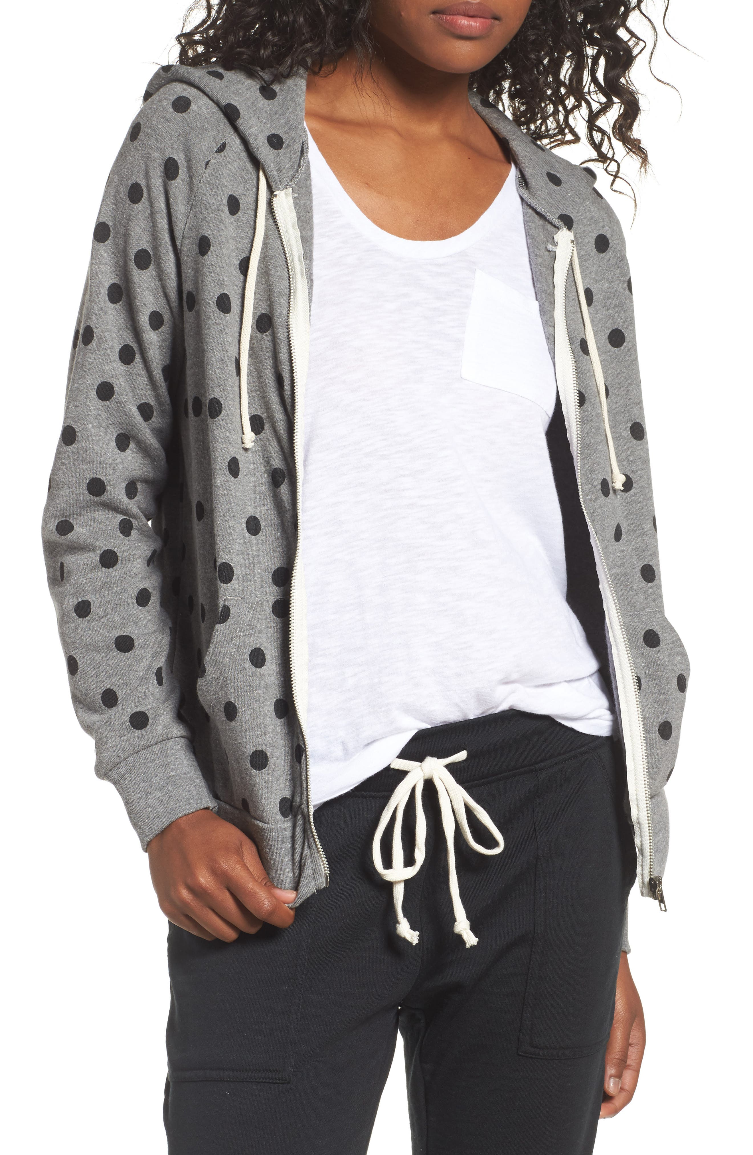 ALTERNATIVE Adrian Print Zip Hoodie, Main, color, 020