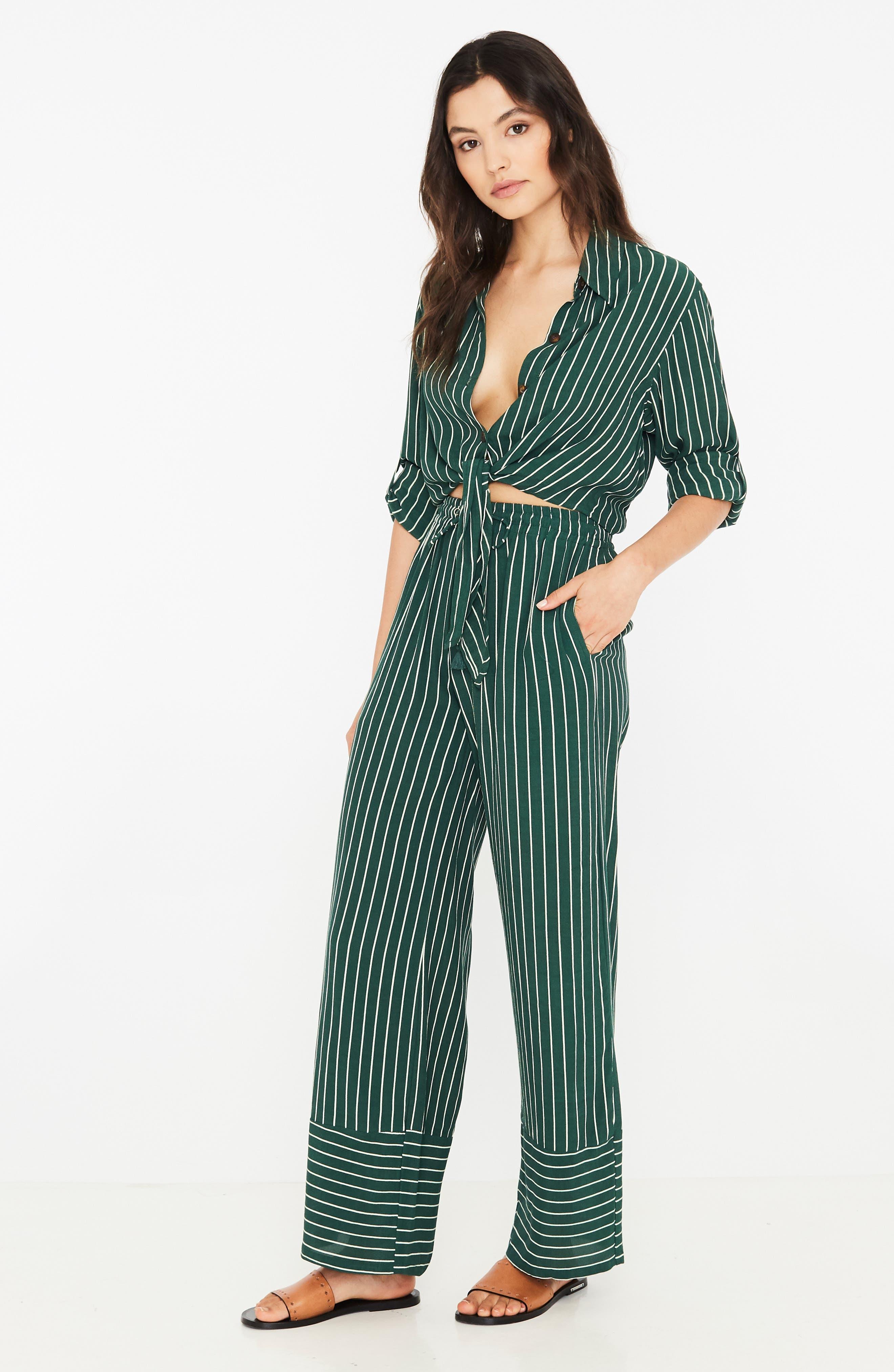 Havana High Waist Stripe Pants,                             Alternate thumbnail 5, color,                             PASEO STRIPE