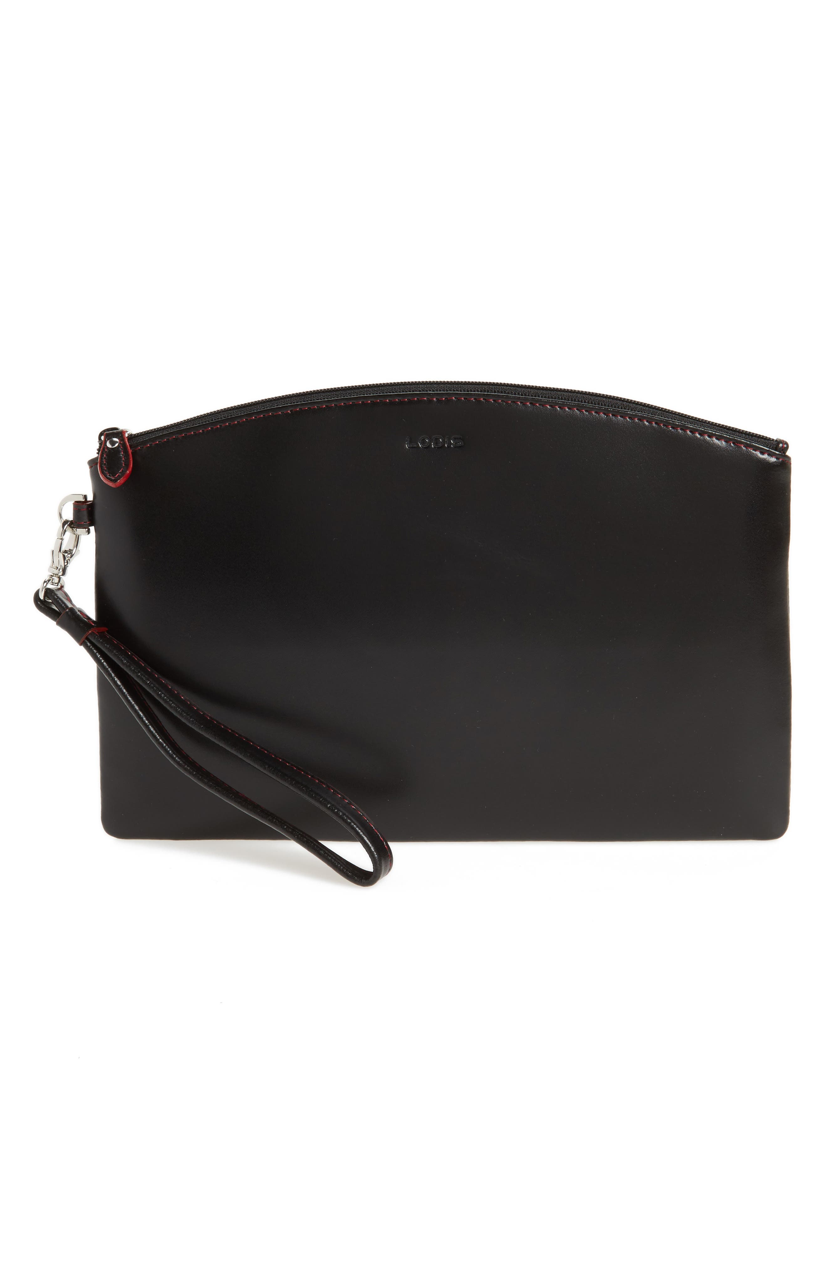 Miley Leather Wristlet & RFID Card Case,                         Main,                         color, 001