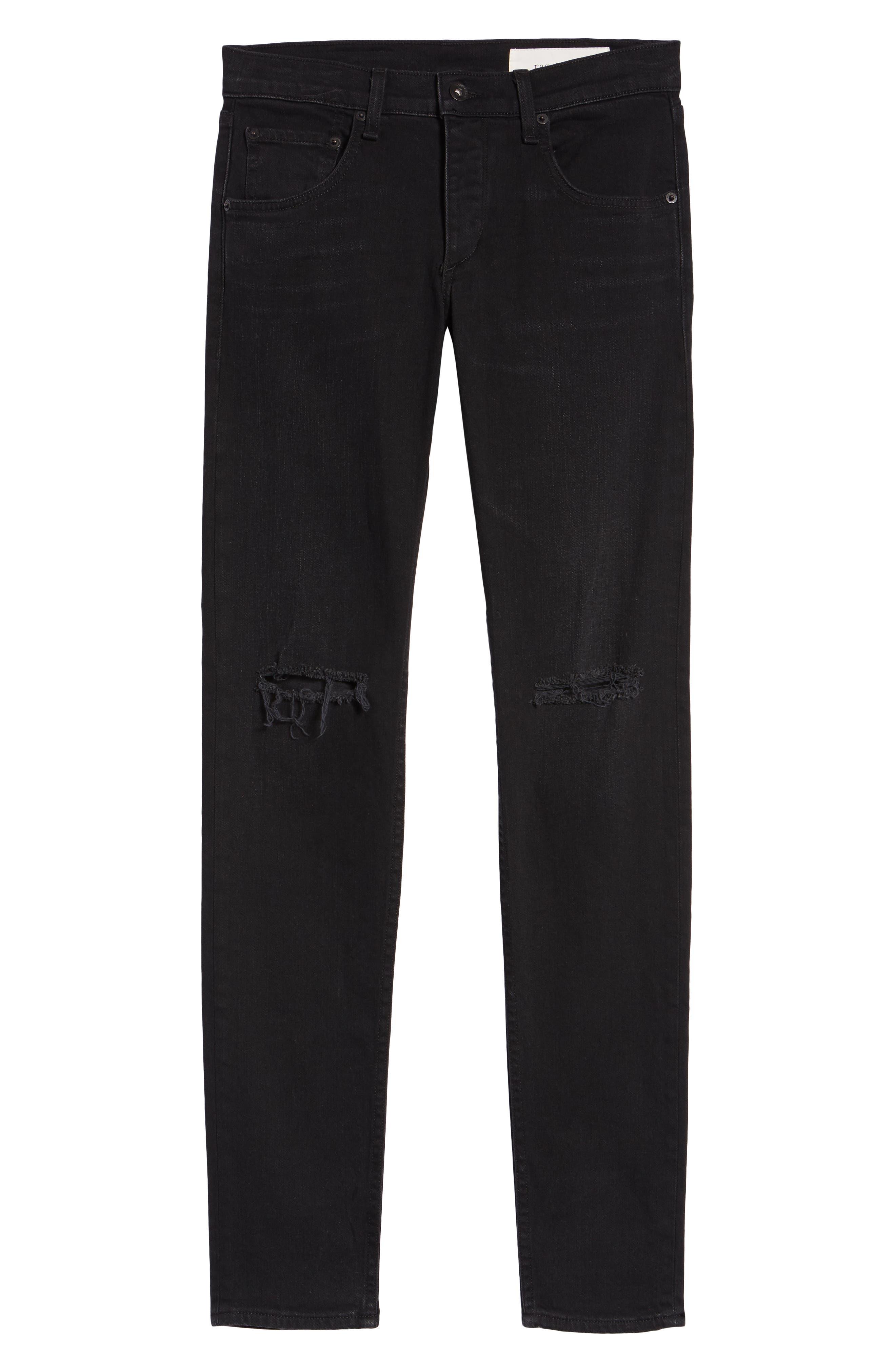 Fit 1 Skinny Fit Jeans,                             Alternate thumbnail 6, color,                             BLACK