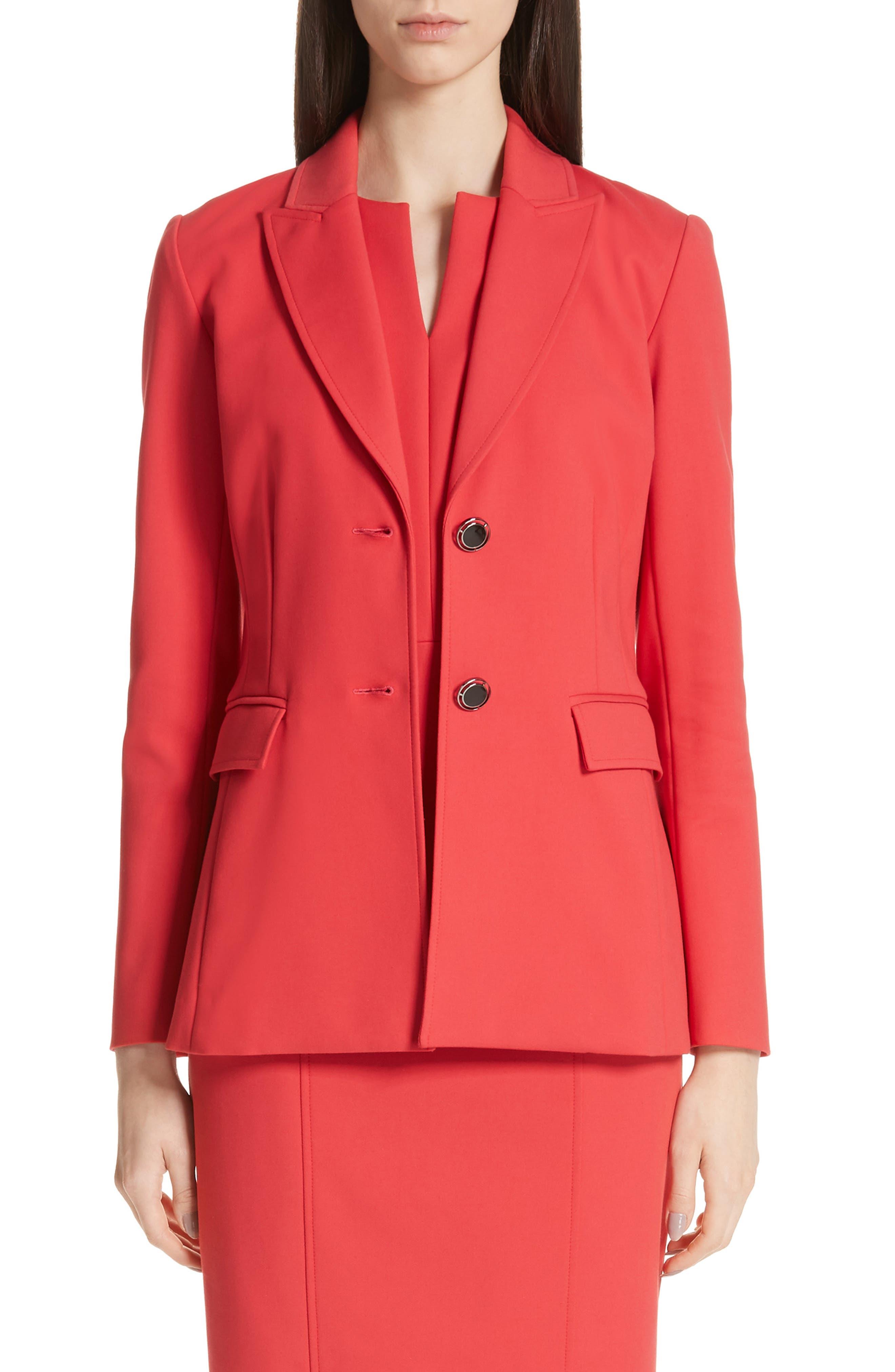 Stretch Double Weave Jacket, Main, color, CRIMSON