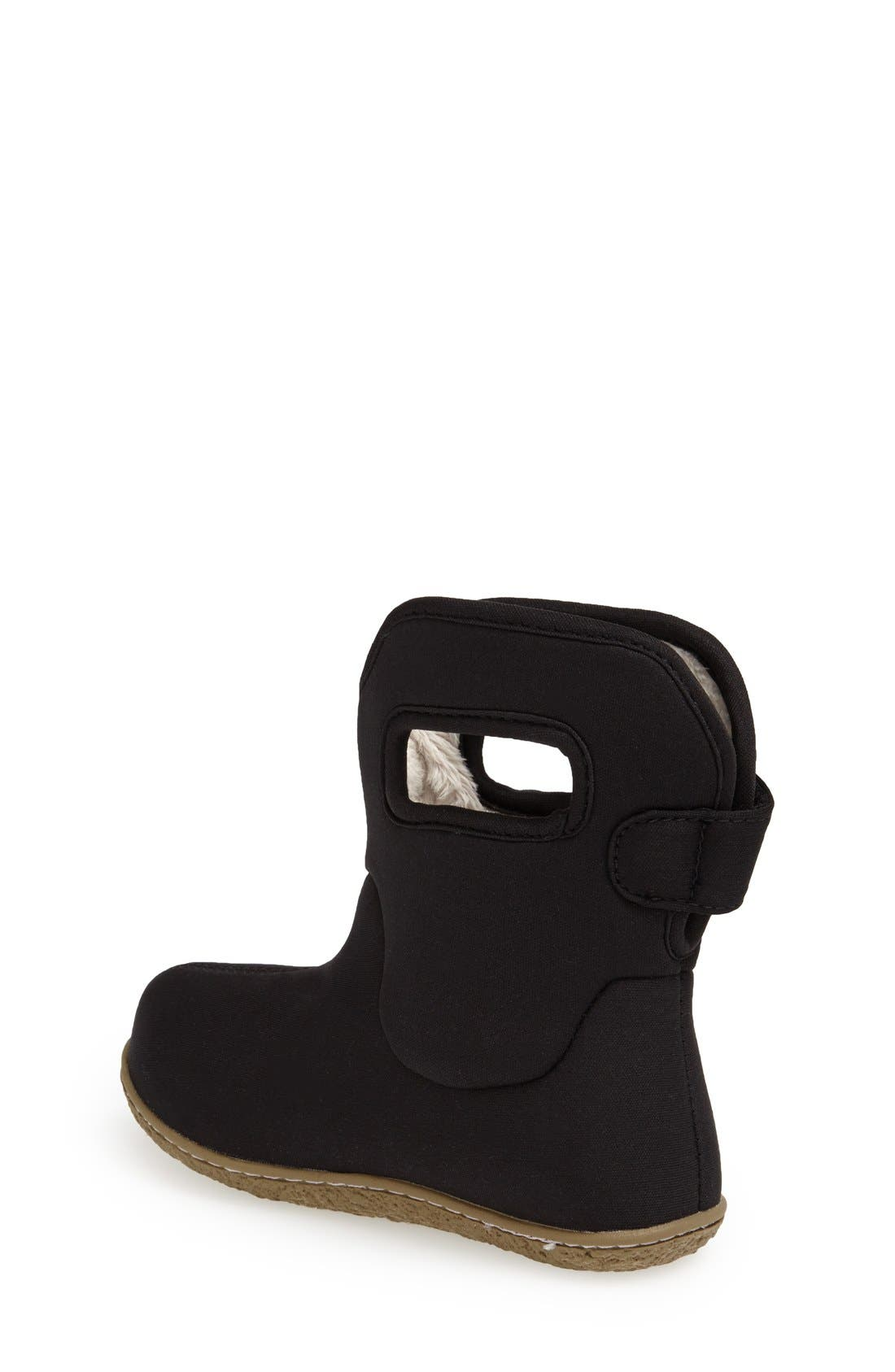 BOGS,                             Baby Bogs Insulated Waterproof Rain Boot,                             Alternate thumbnail 2, color,                             BLACK