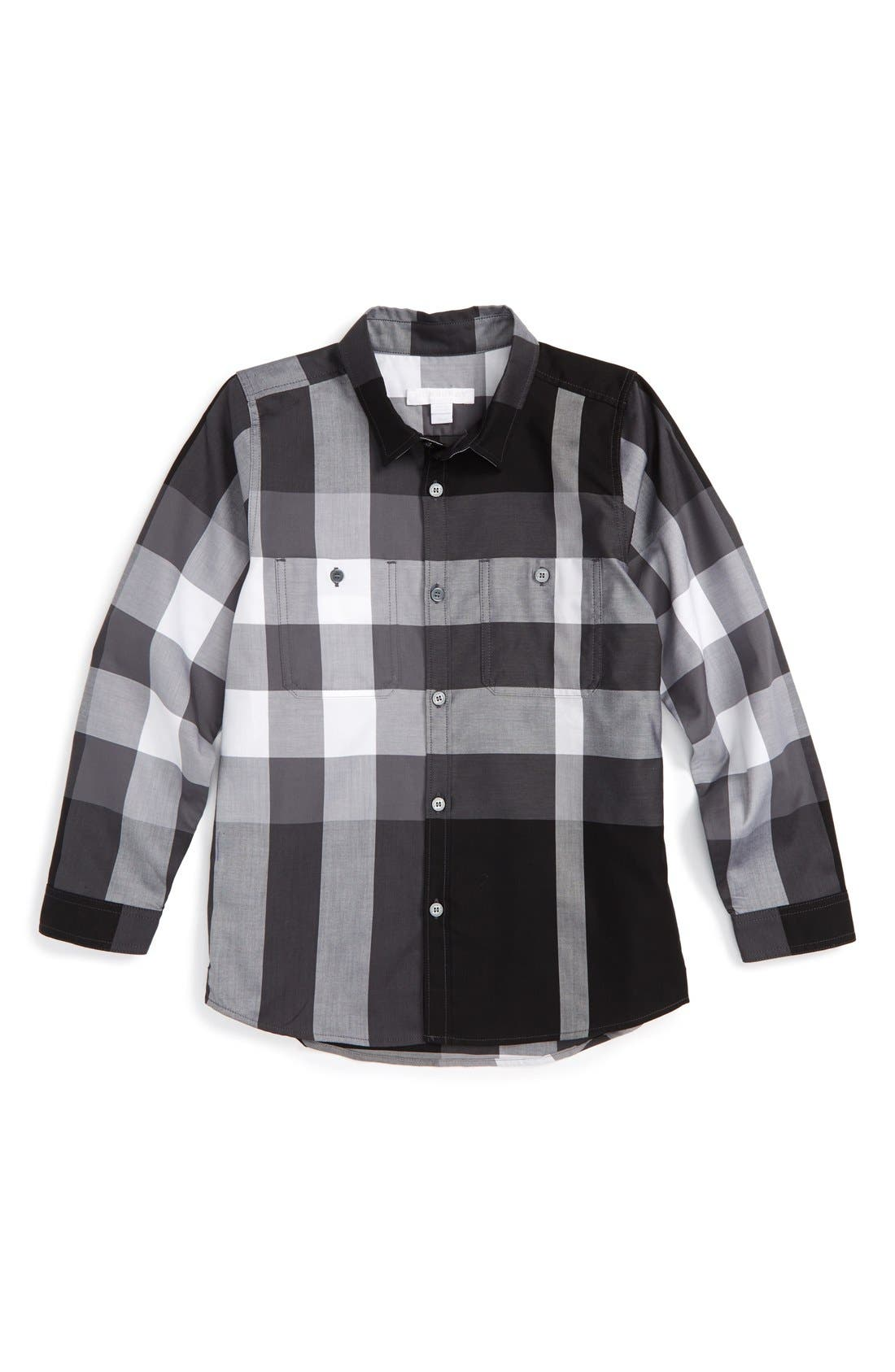 'Mini Camber' Check Long Sleeve Shirt,                             Main thumbnail 1, color,