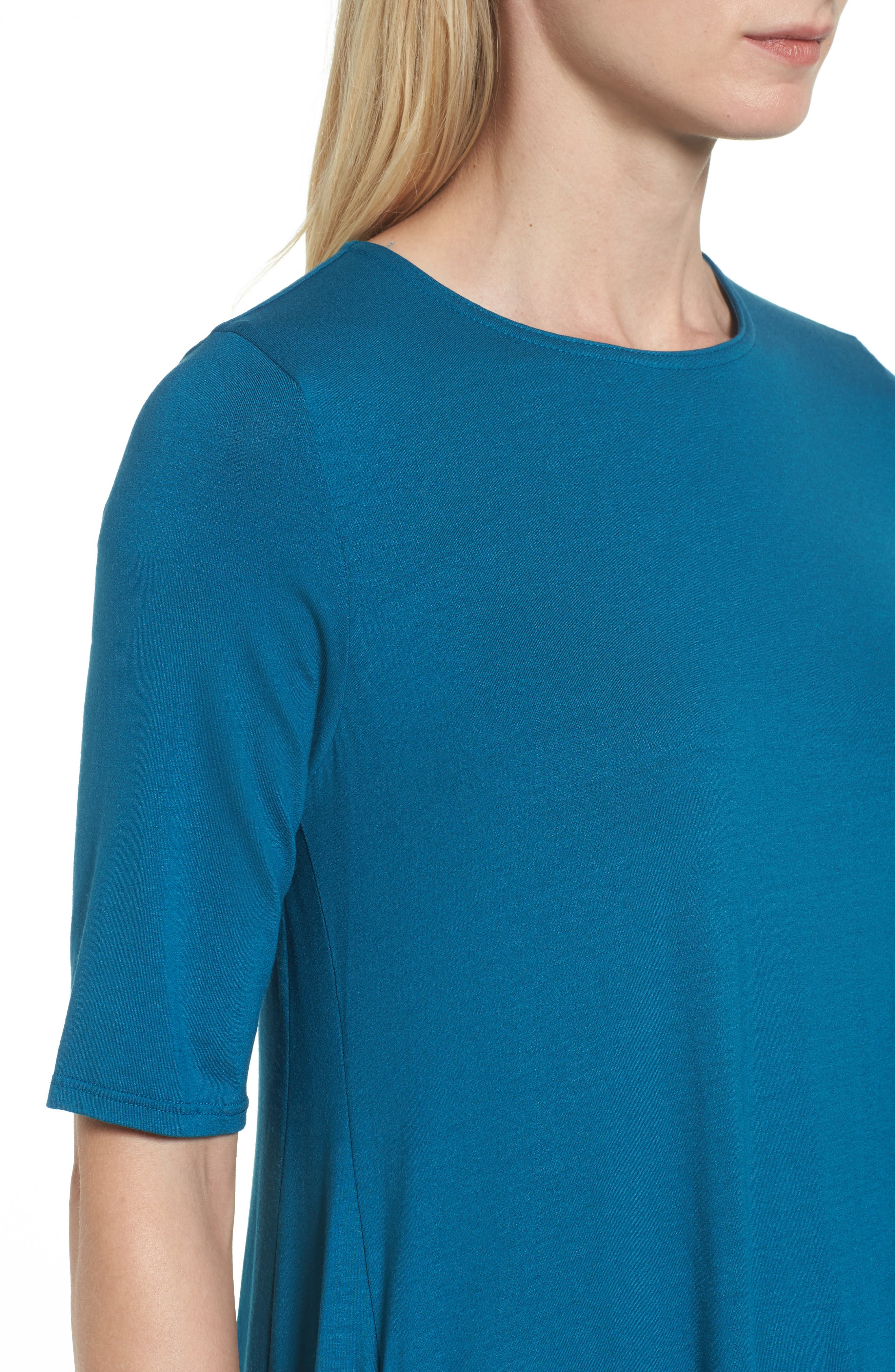 Lightweight Jersey Round Neck Tunic,                             Alternate thumbnail 22, color,
