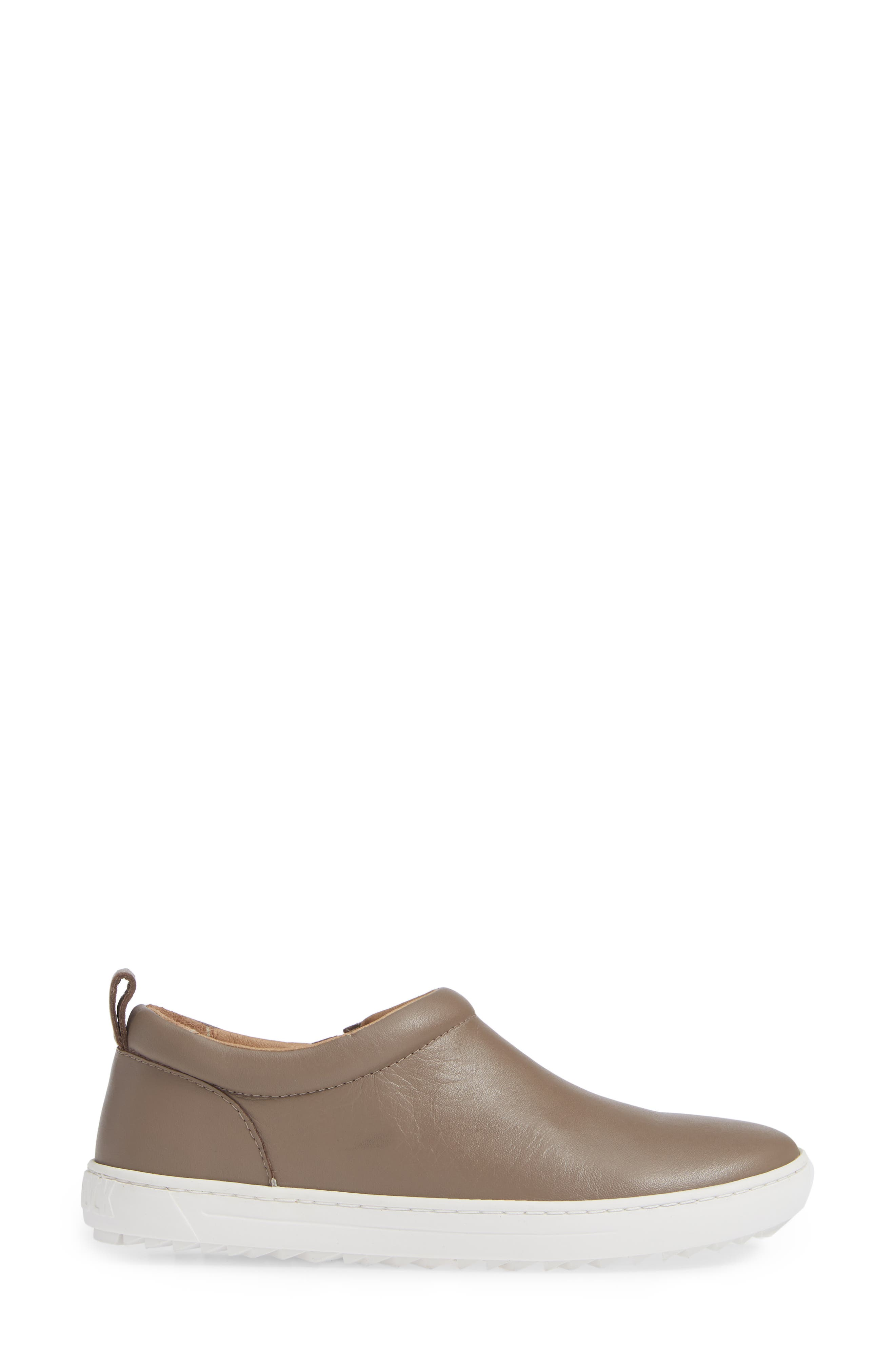 Rena Slip-On Sneaker,                             Alternate thumbnail 3, color,                             TAUPE LEATHER