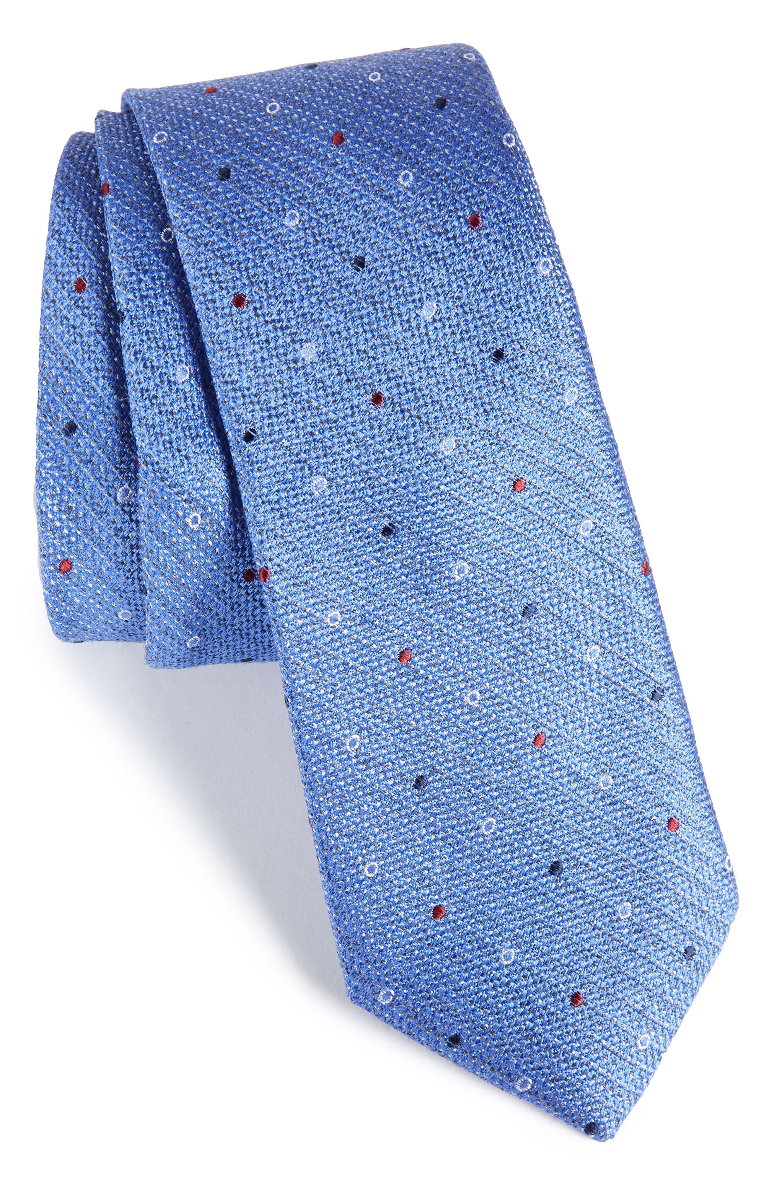Brubeck Neat Silk Blend Tie,                             Main thumbnail 5, color,