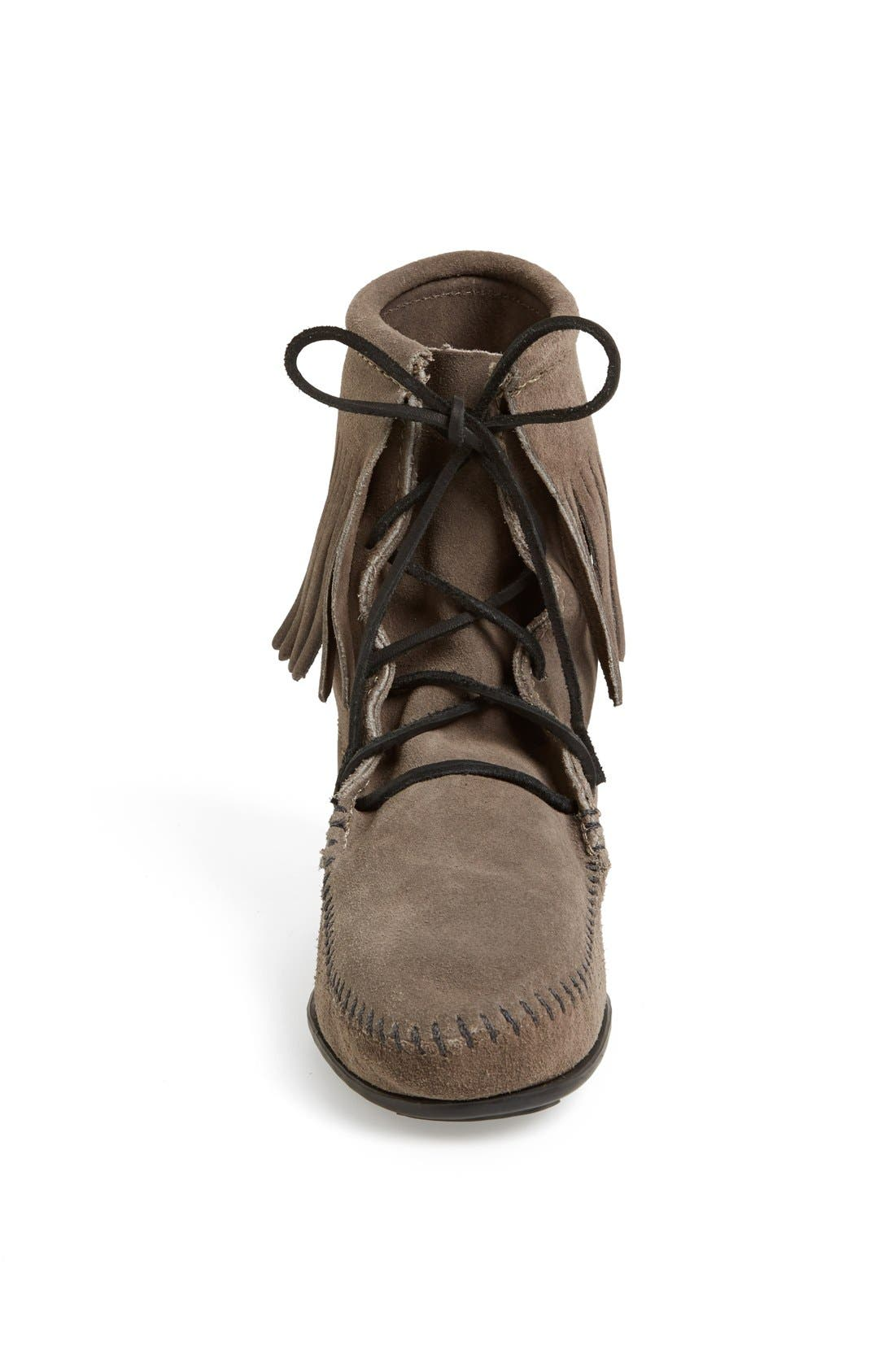 'Tramper' Fringed Suede Ankle Bootie,                             Alternate thumbnail 2, color,                             039