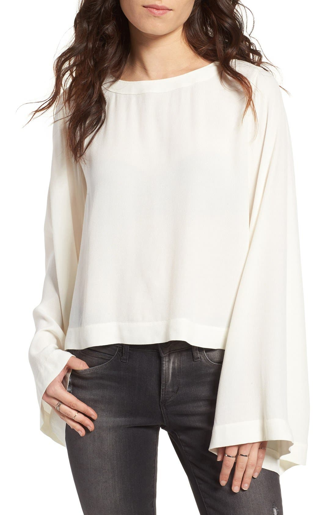 Bell Sleeve Blouse,                             Main thumbnail 2, color,