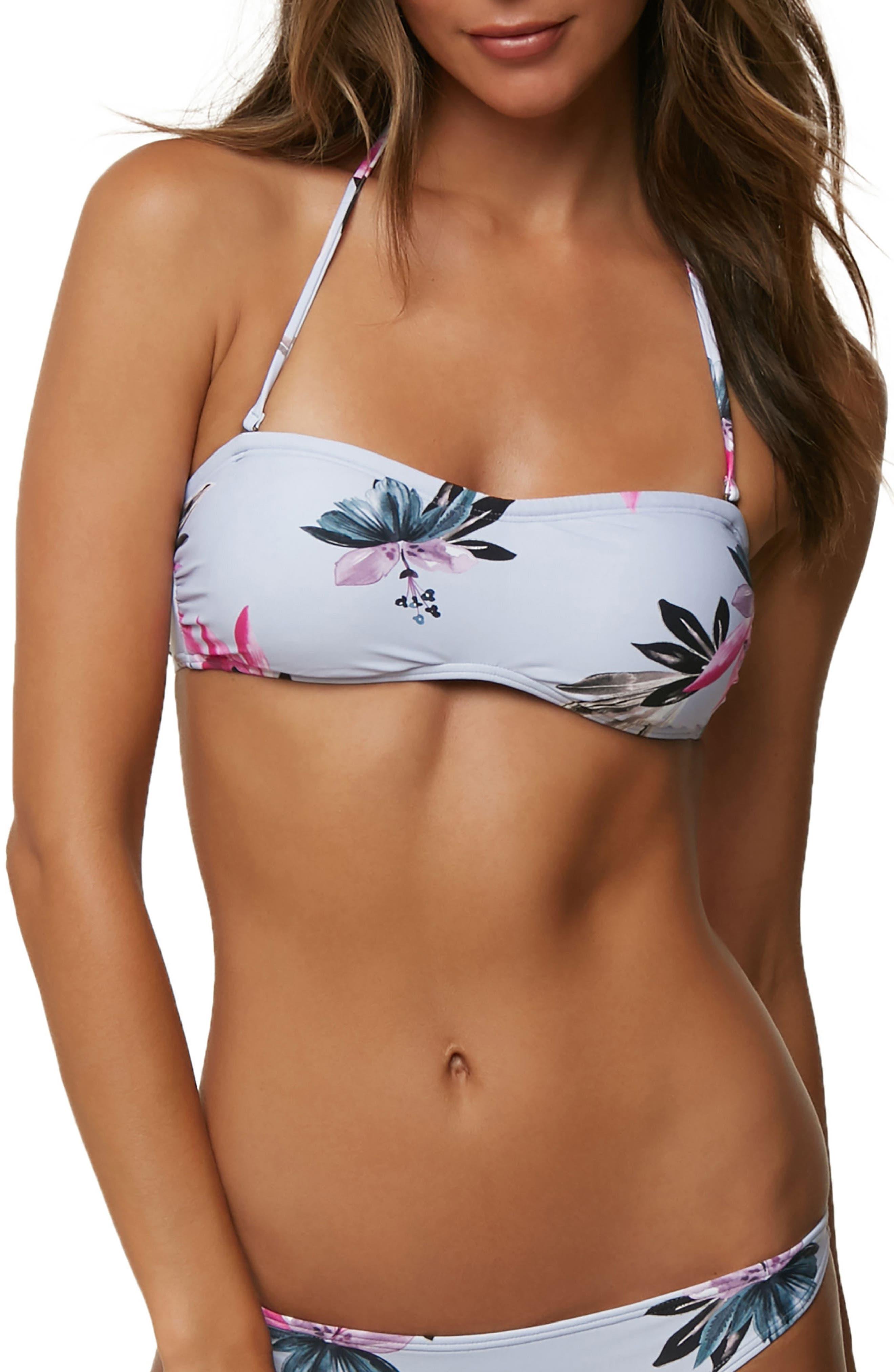 Sydney Bandeau Bikini Top,                         Main,                         color, 100
