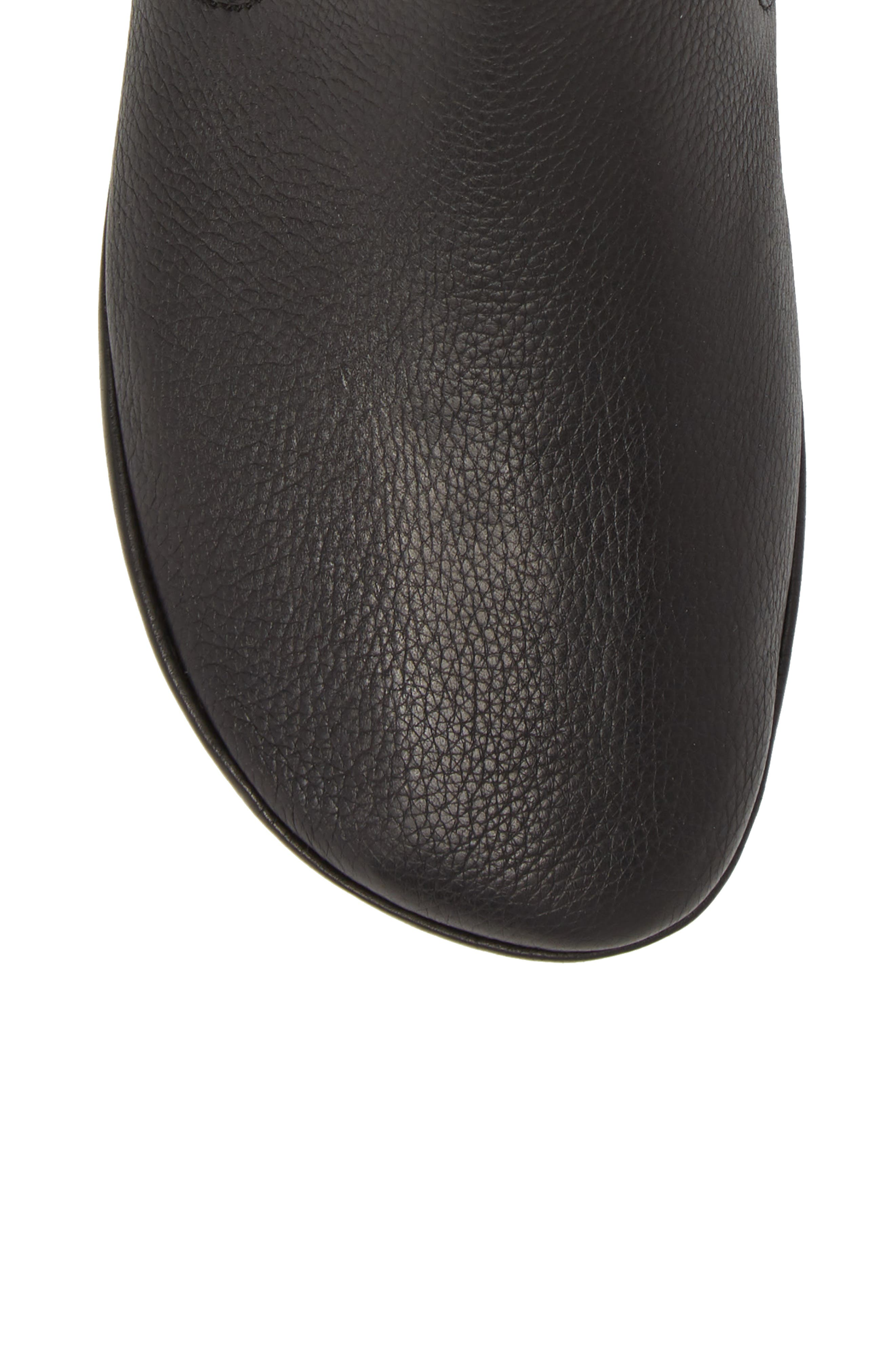 Right Nina Bootie,                             Alternate thumbnail 5, color,                             BLACK LEATHER