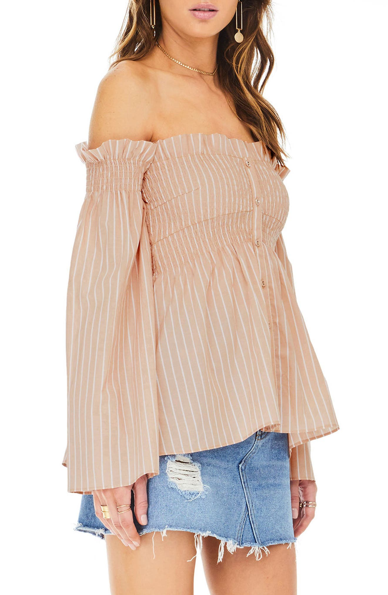 Shelby Off the Shoulder Top,                             Alternate thumbnail 8, color,