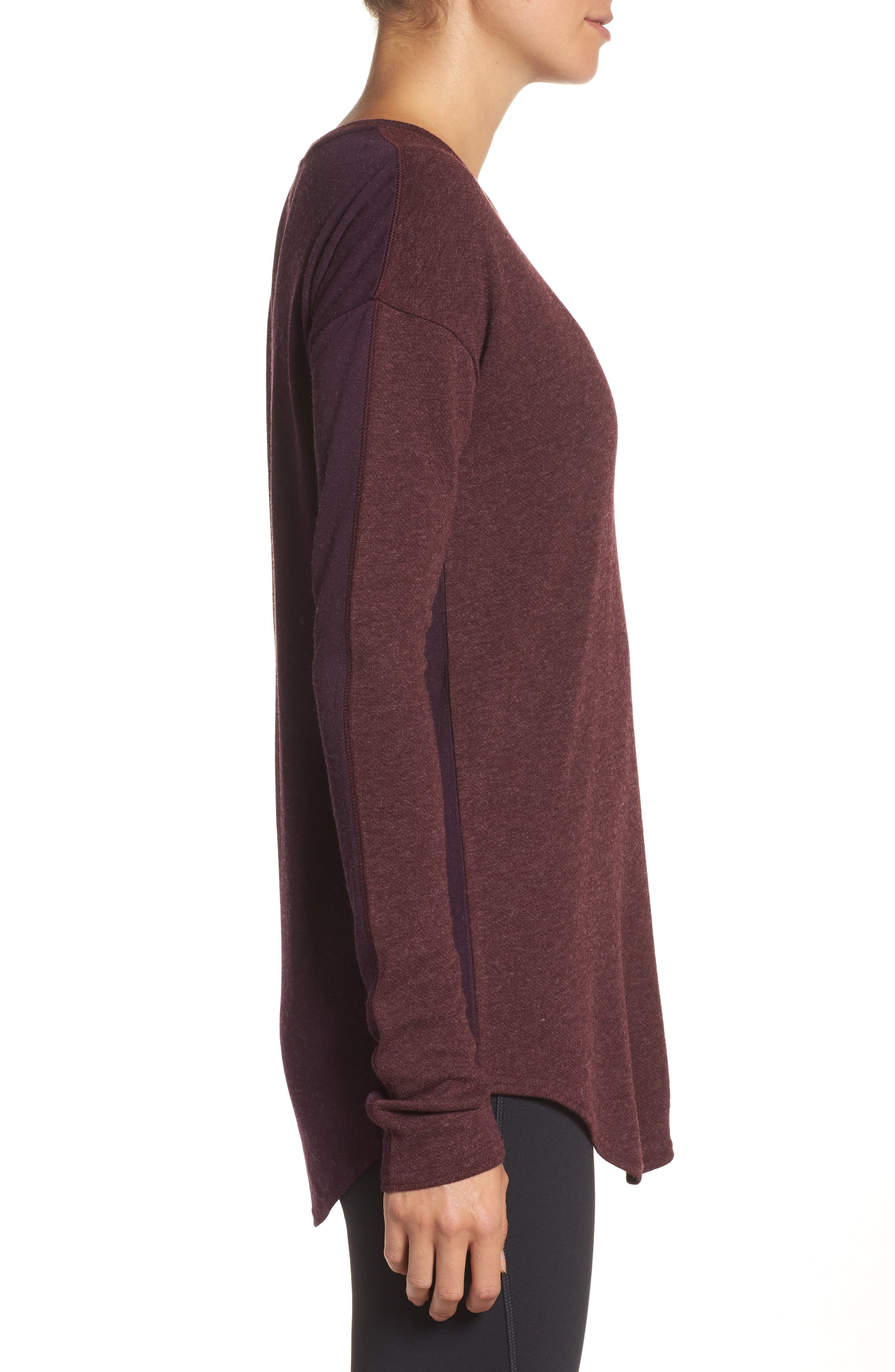 247 Luxe Long Sleeve Tee,                             Alternate thumbnail 3, color,                             930