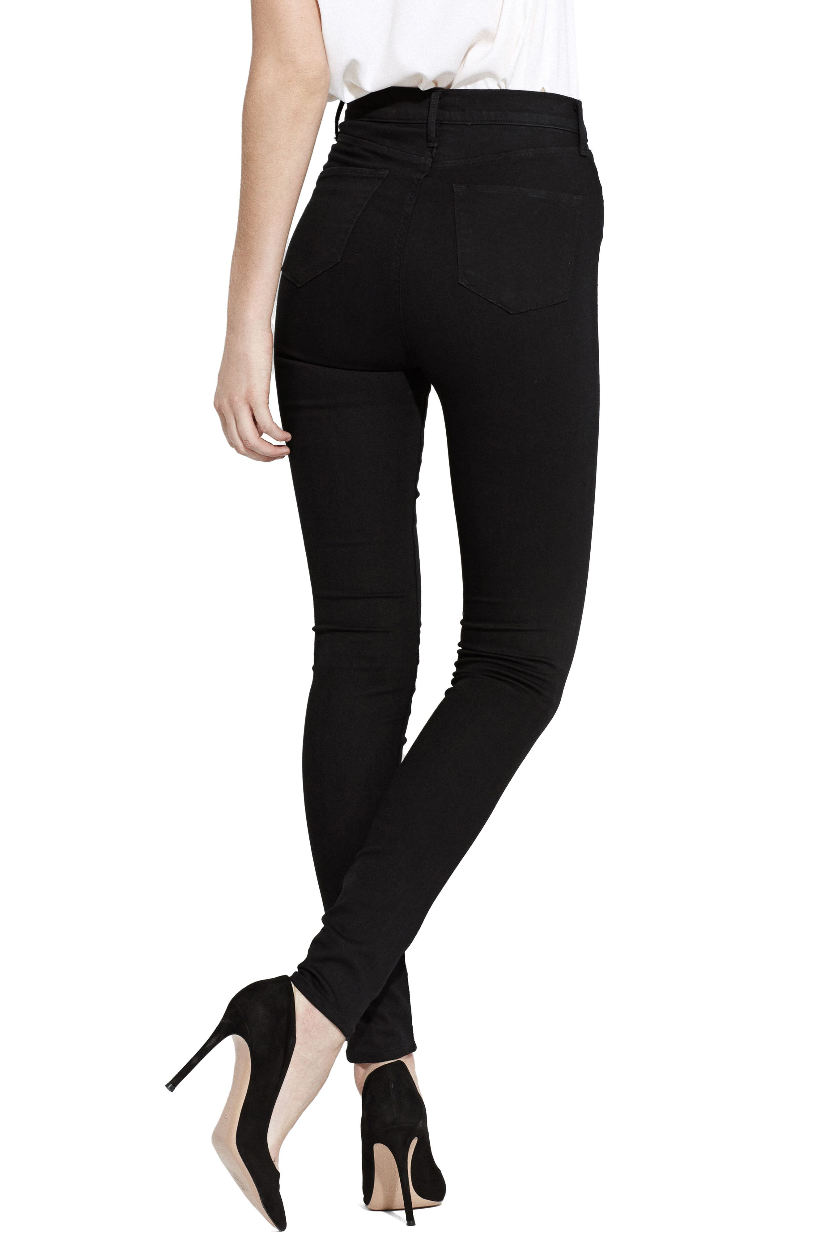 The Hi-Rise Skinny Jeans,                             Alternate thumbnail 2, color,                             001
