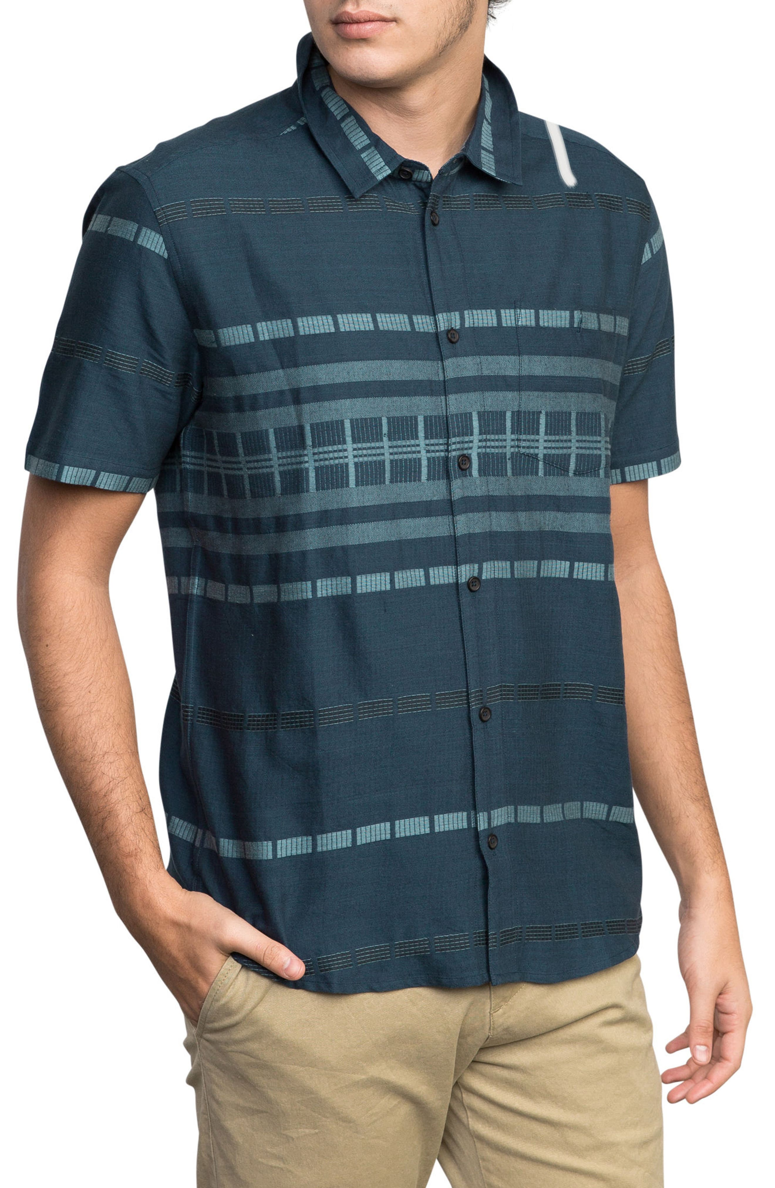 Krazy Kat Woven Shirt,                             Alternate thumbnail 3, color,                             CLASSIC INDIGO